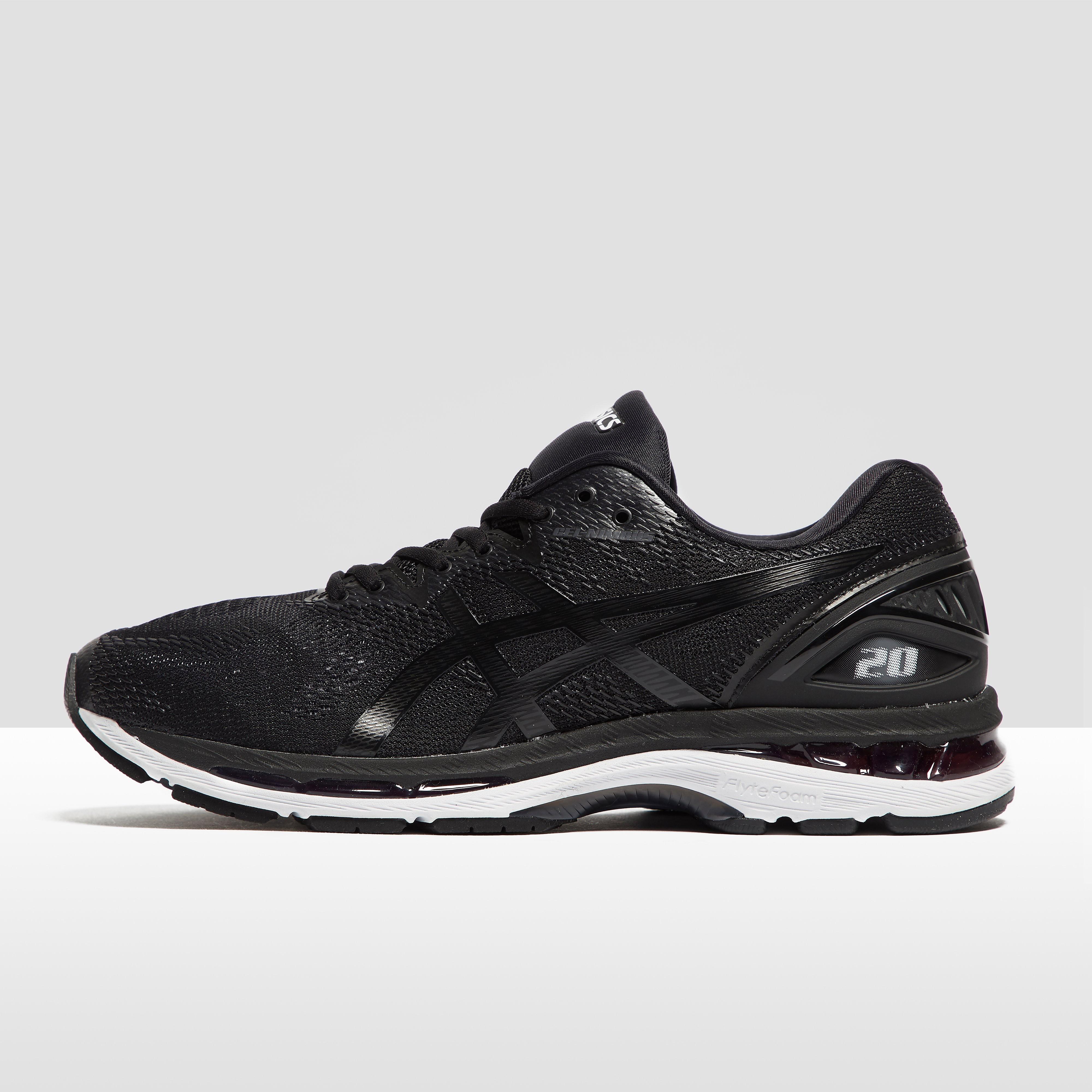 Men's ASICS Gel-Nimbus 20 Running Shoes - Black, Black