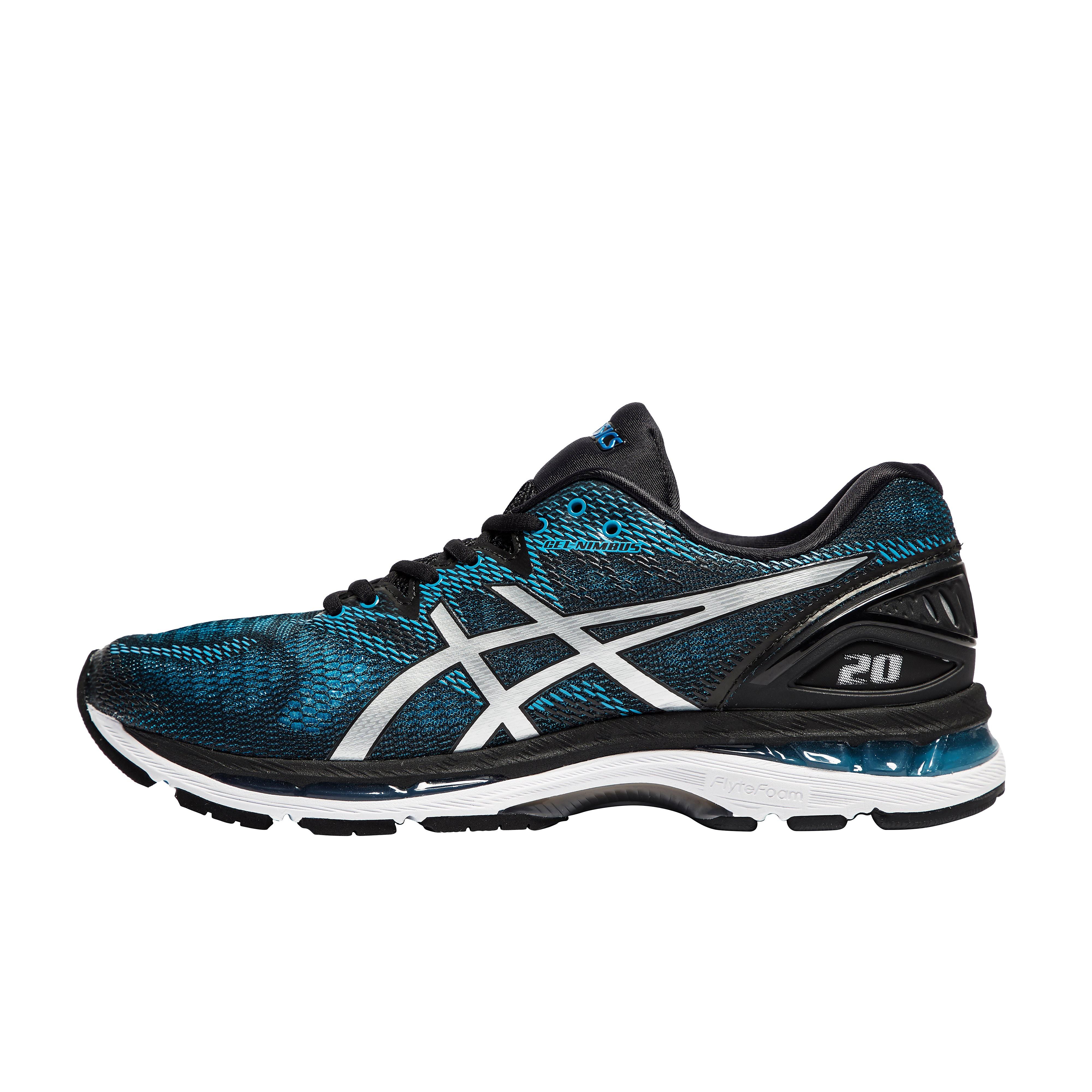 Men's ASICS Gel-Nimbus 20 Running Shoes - Blue/Black, Blue