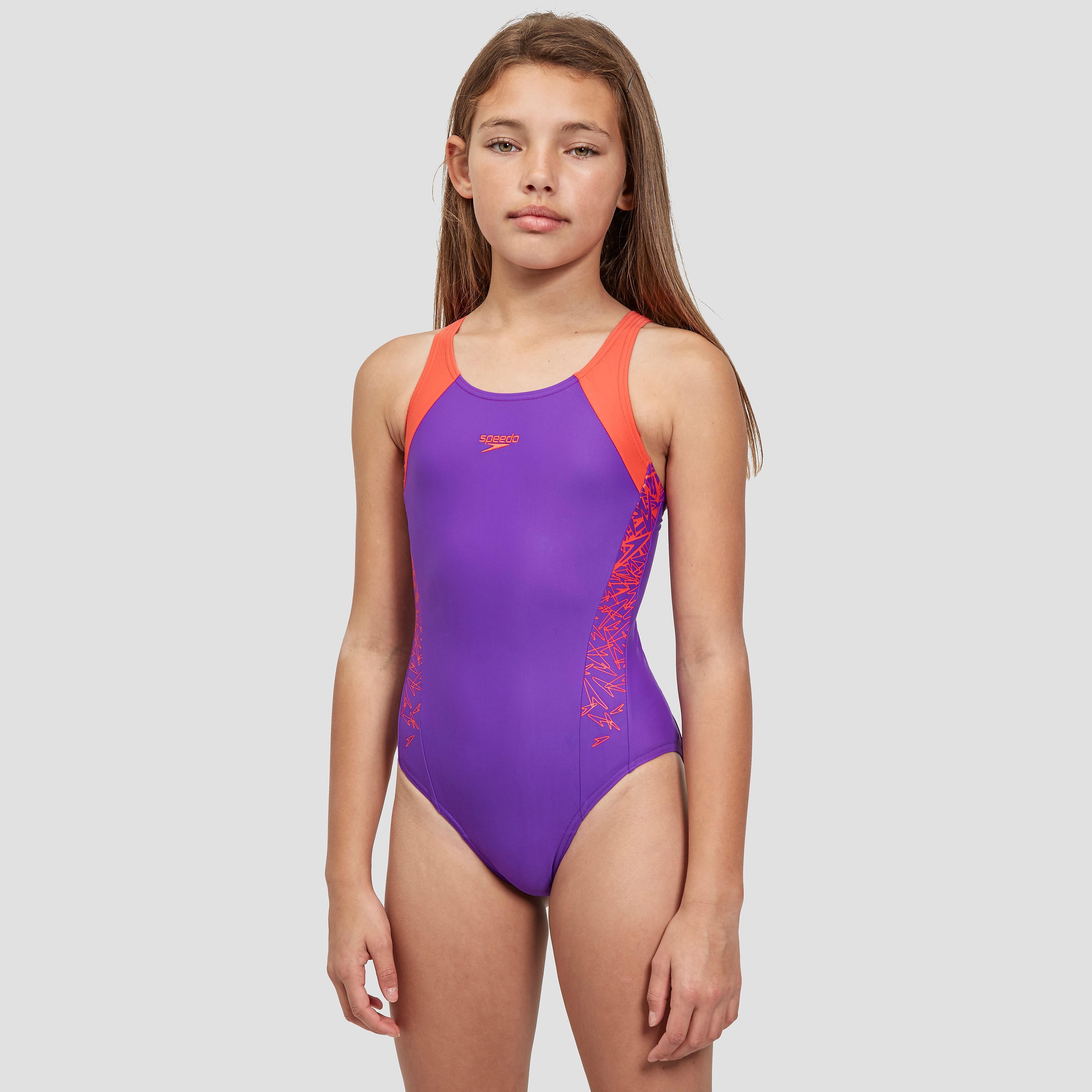Speedo Boom Splice Muscleback Girls' Swimsuit