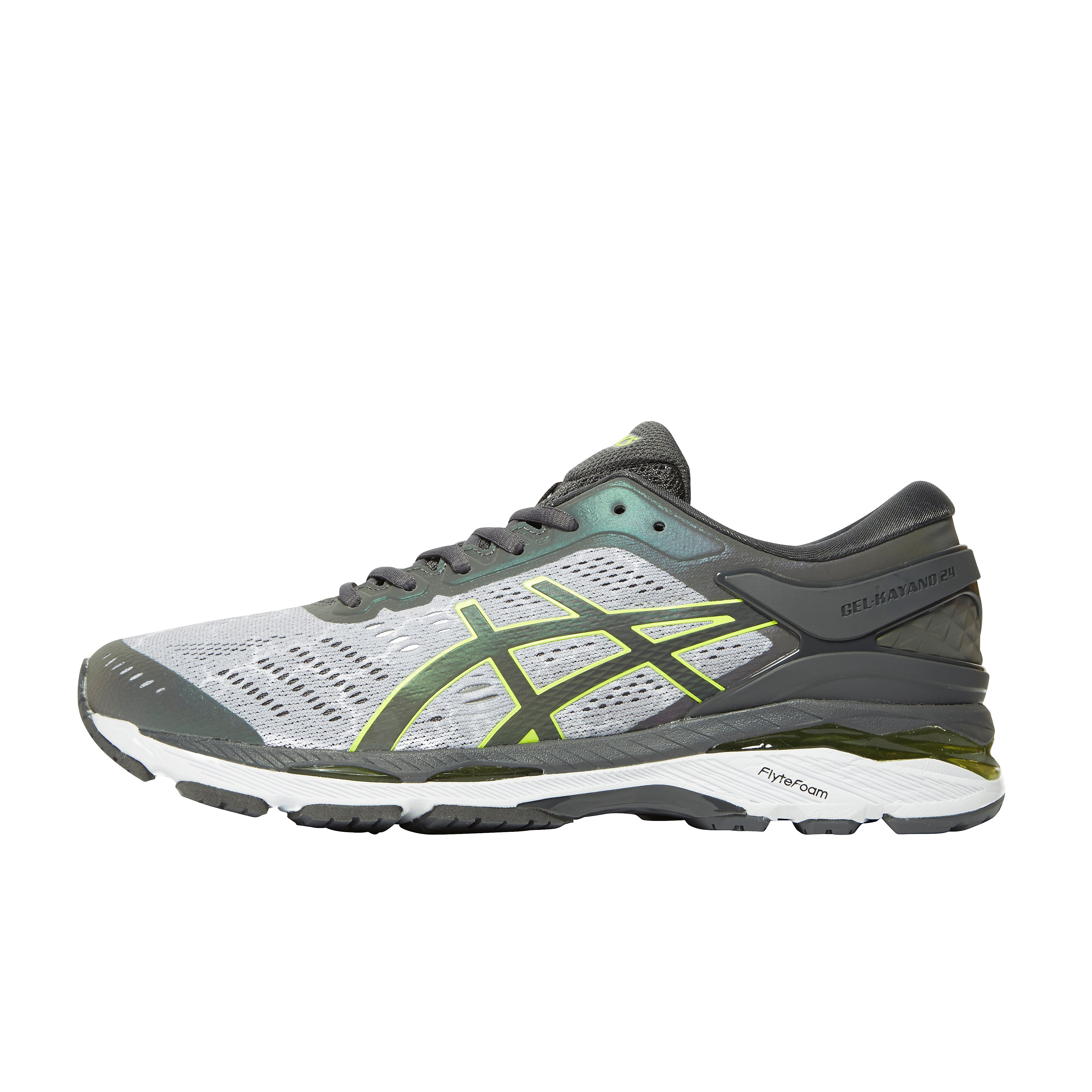 Men's ASICS Gel-Kayano 24 Lite-Show Running Shoes - Dark Grey, Dark Grey