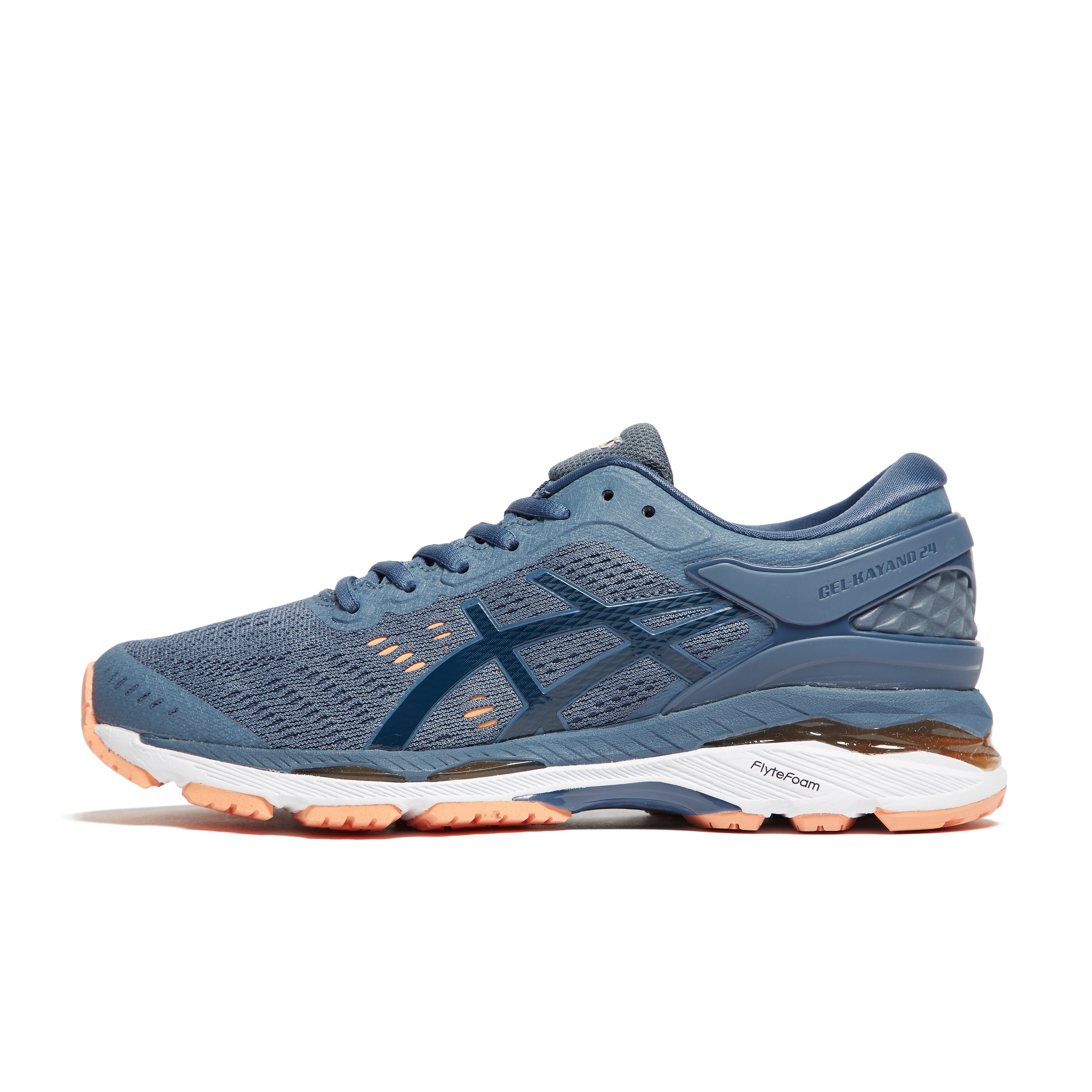 Women's ASICS GEL KAYANO 24 RUNNING SHOES - Blue, Blue