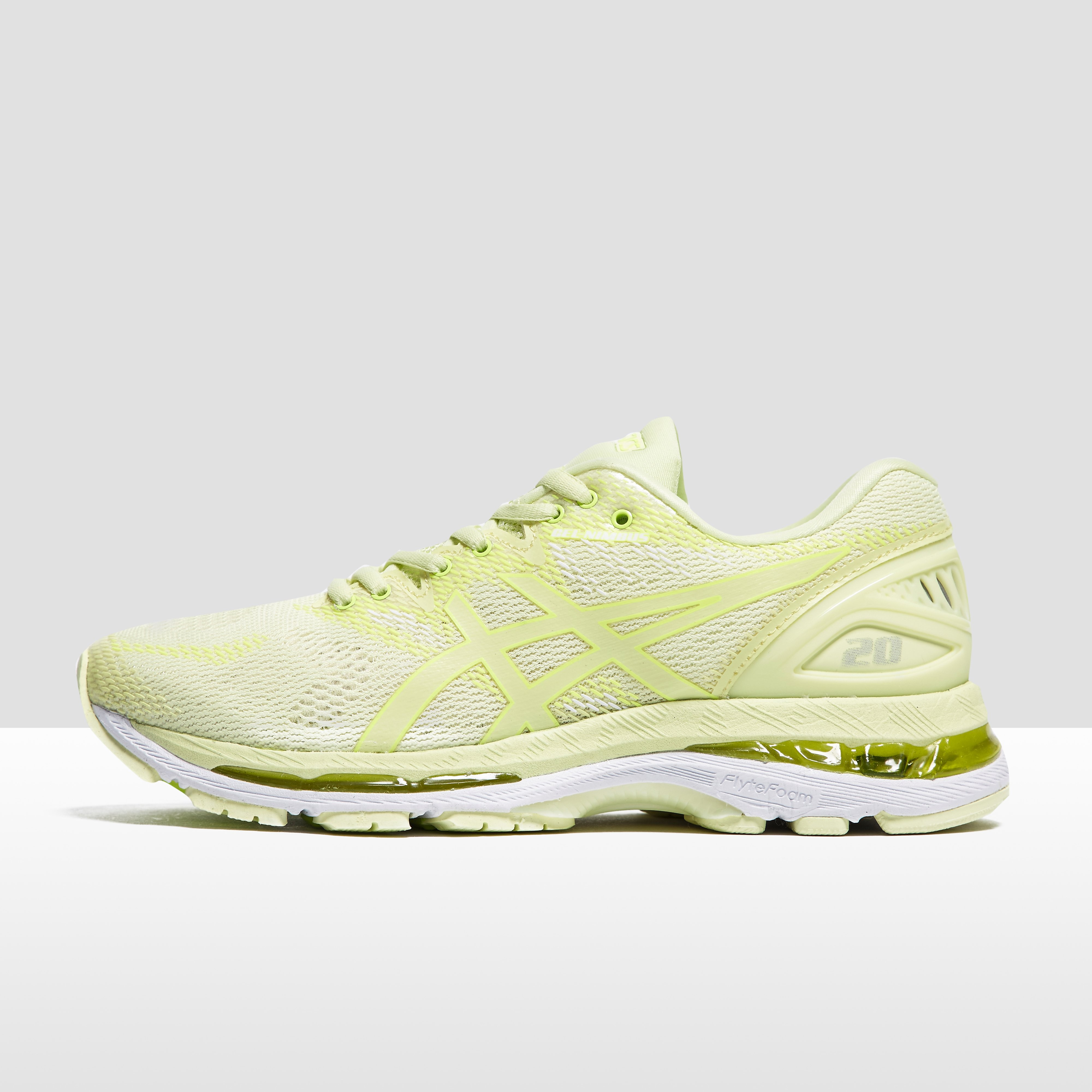 Women's ASICS Gel-Nimbus 20 Running Shoes - Yellow, Yellow