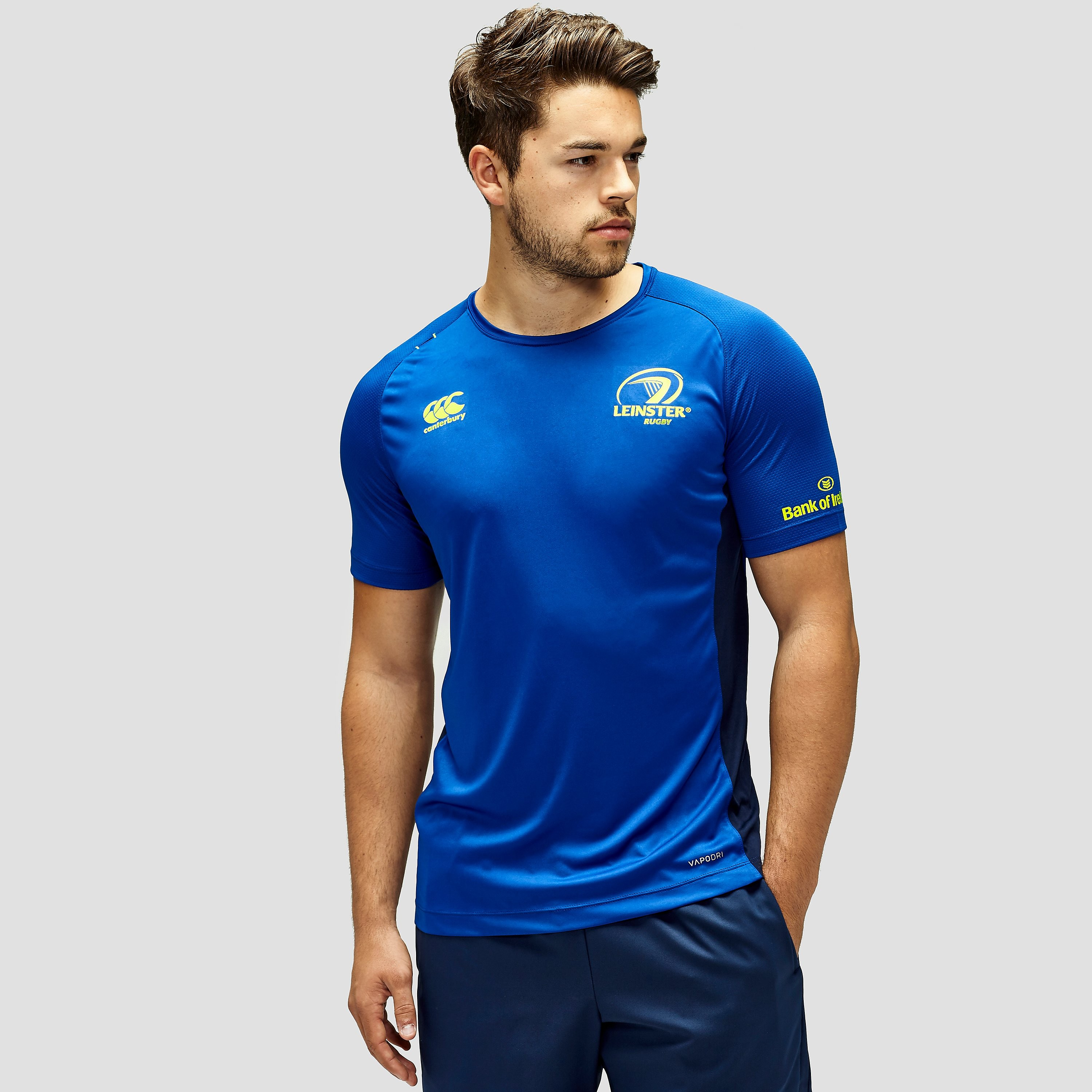 Canterbury Men's Leinster Rugby Poly Short Sleeve T-Shirt