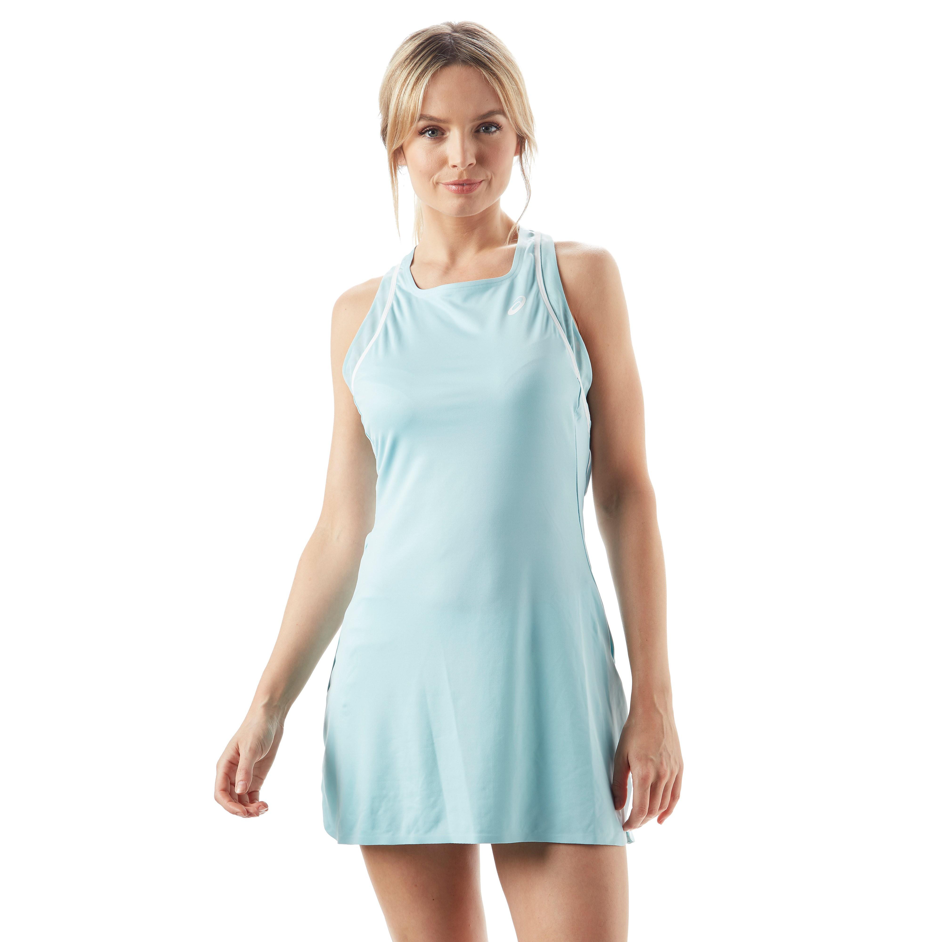 Womens Light Blue ASICS Gel Cool Performance Tennis Dress, Light Blue