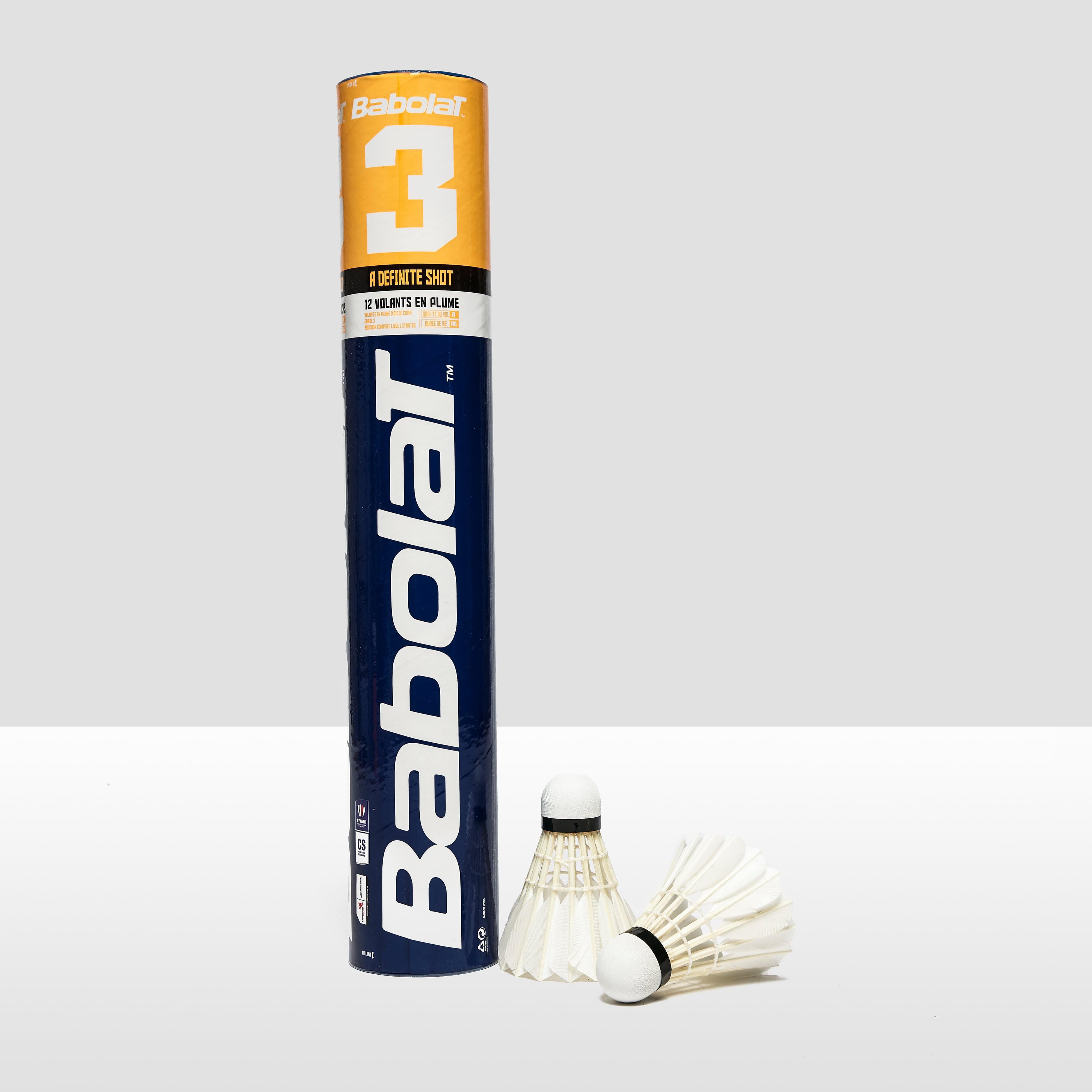 Babolat 3 Feather Badminton Shuttles
