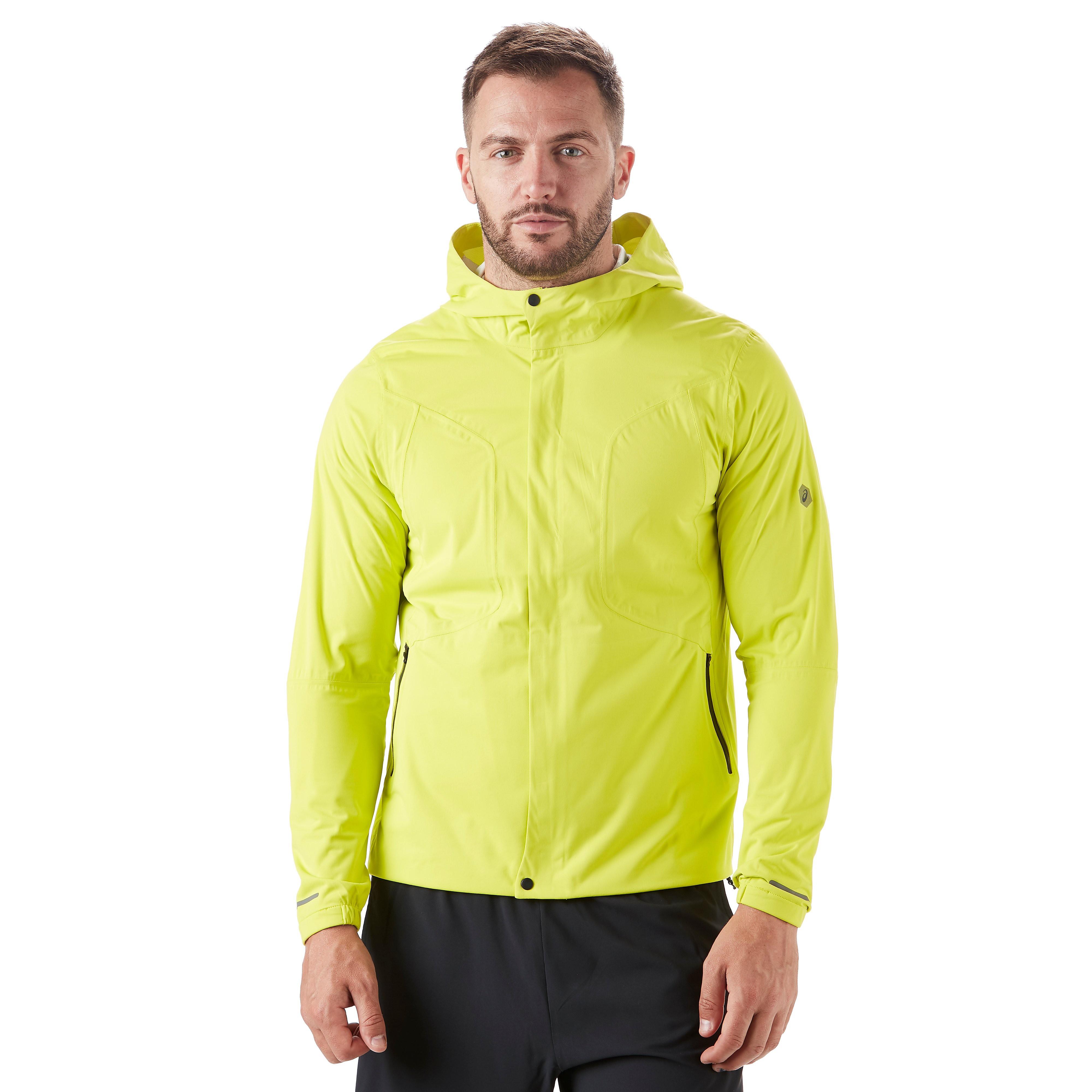 Men's ASICS Accelerate Running Jacket - Yellow, Yellow