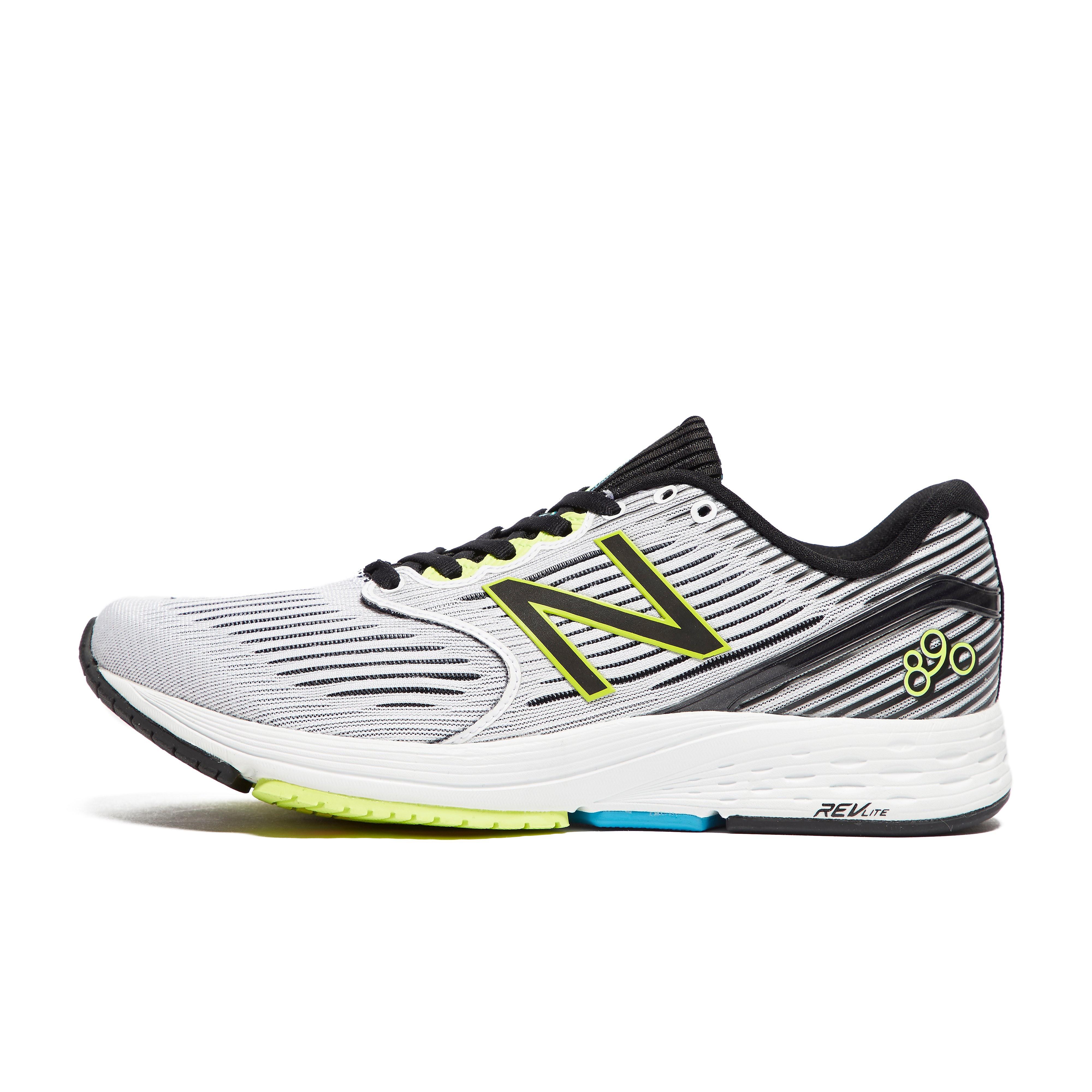 Mens White New Balance 890v6 running shoes
