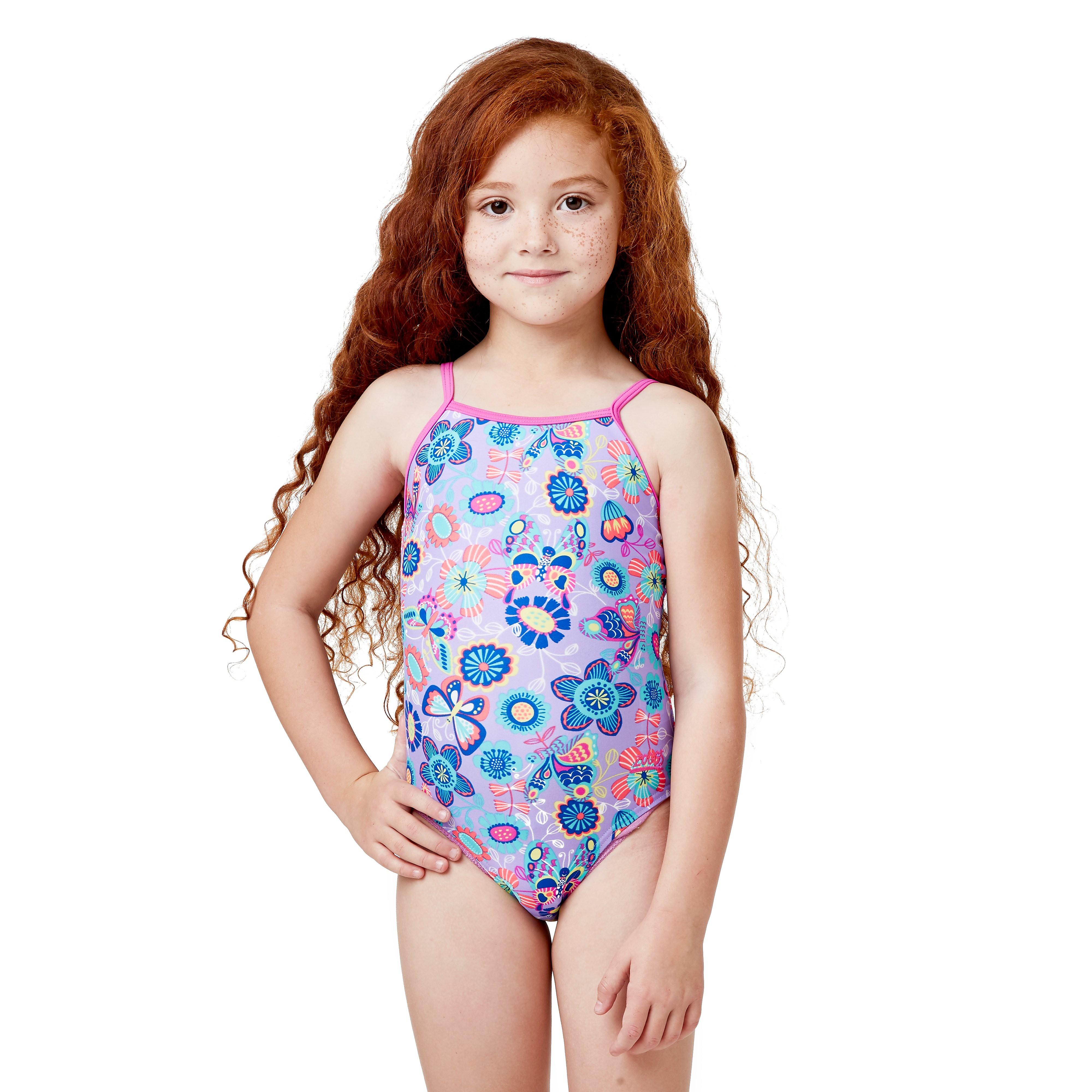 Zoggs Wild Yaroomba Floral Junior Swimsuit