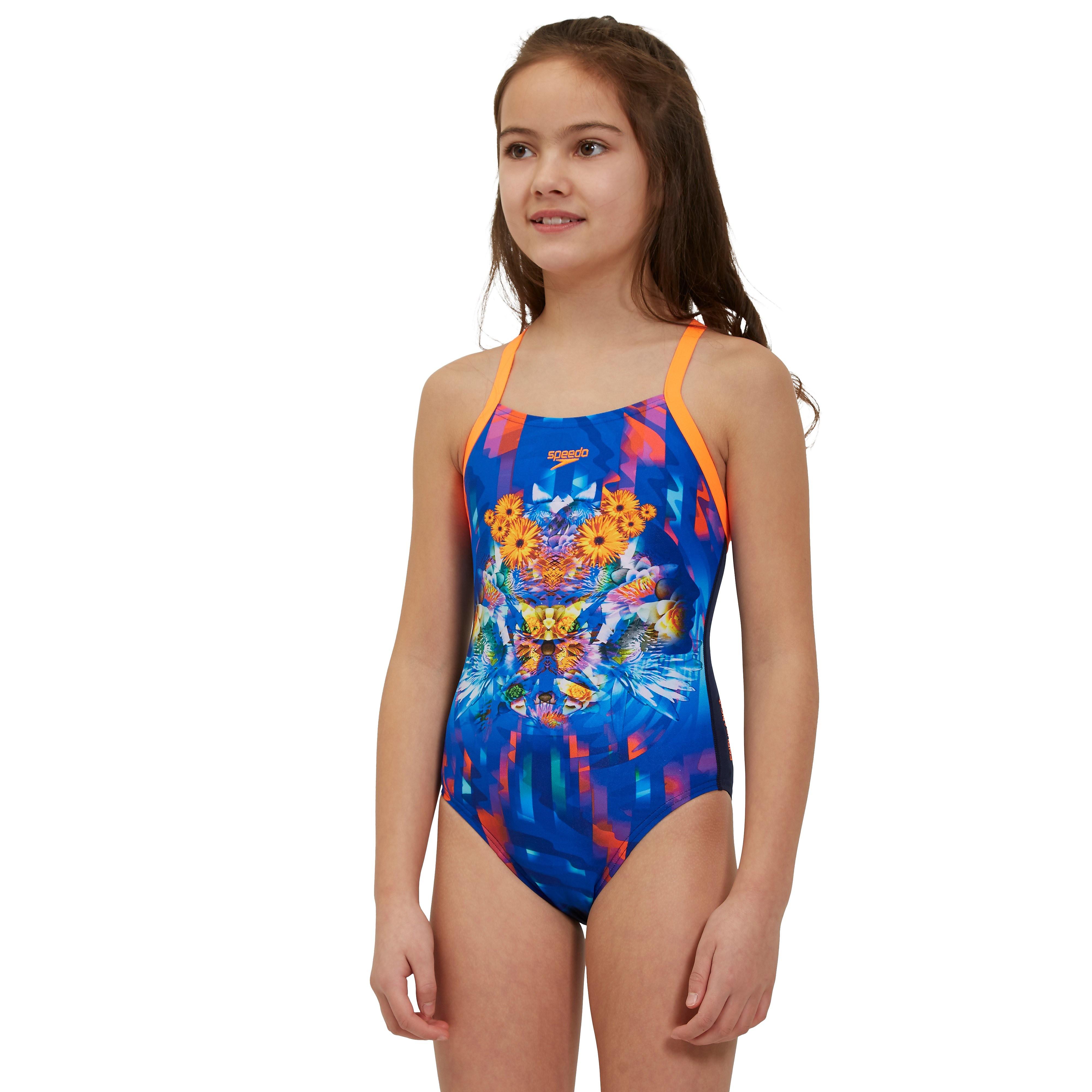 Speedo Dreamscape Digital Cross Back Junior Swimsuit