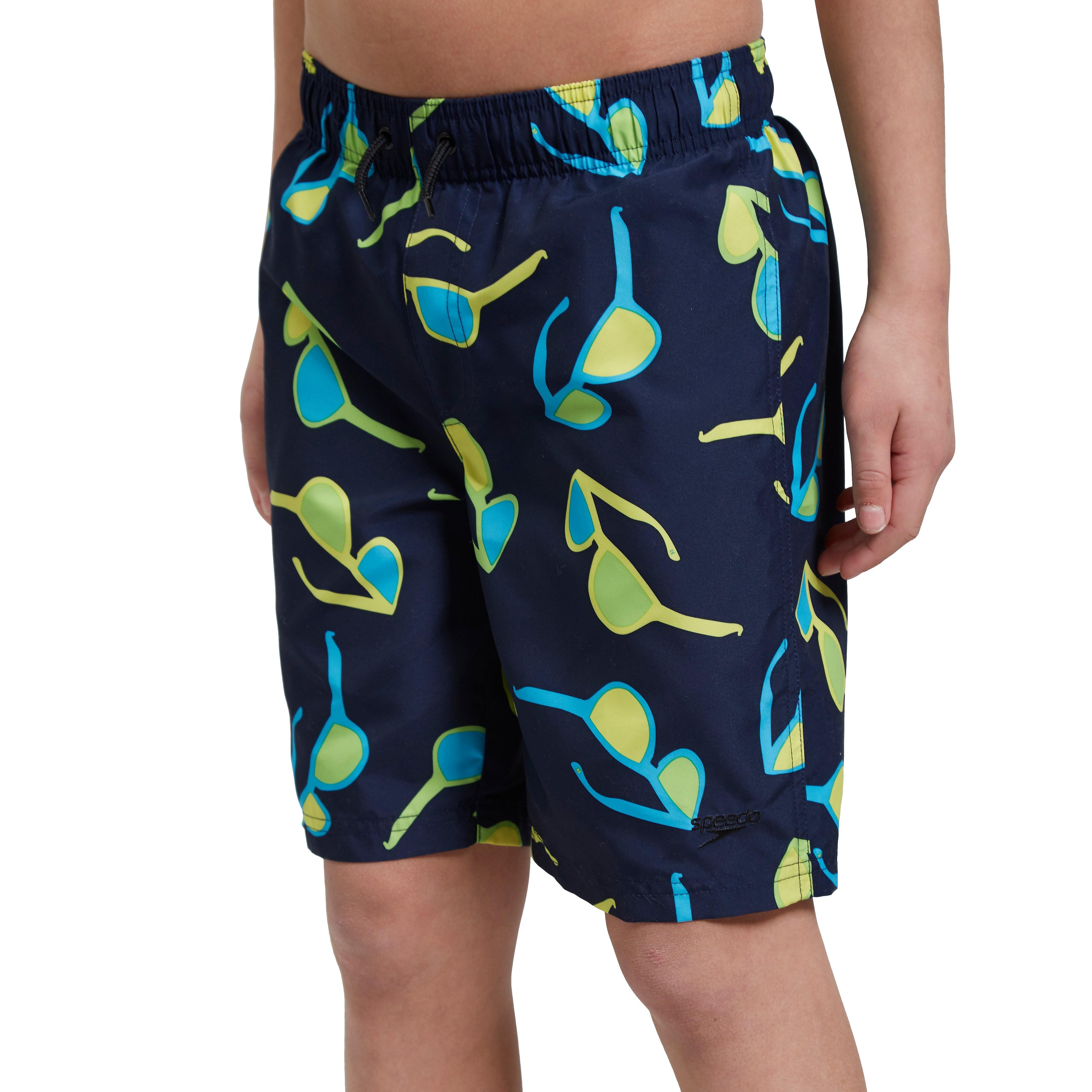 "Speedo Polka Solar Printed 17"" Junior Swim Short"