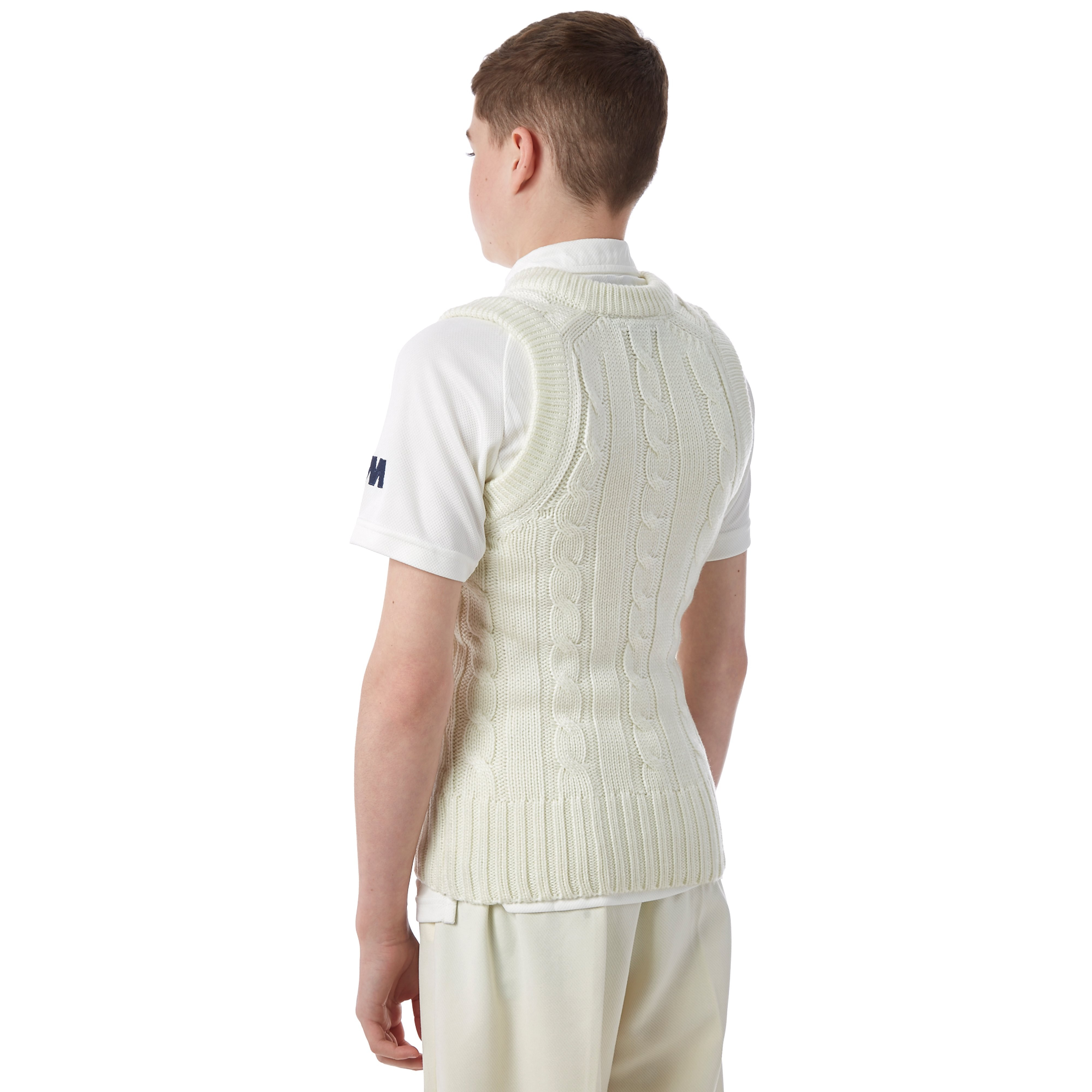Gunn & Moore Plain Sleeveless Slipover Junior Cricket Top