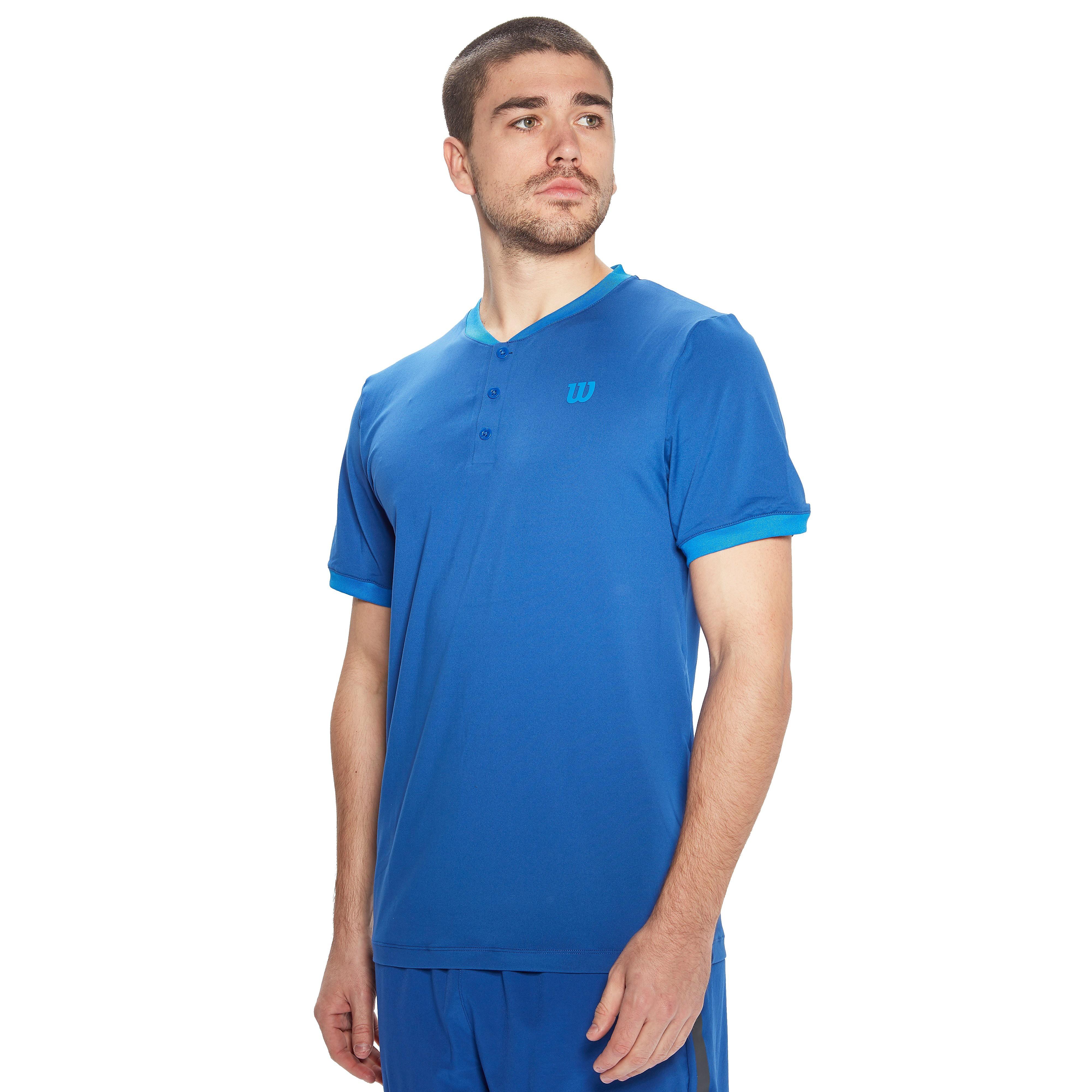 Men's Wilson Spring UWII Henley Tennis Top - Blue, Blue