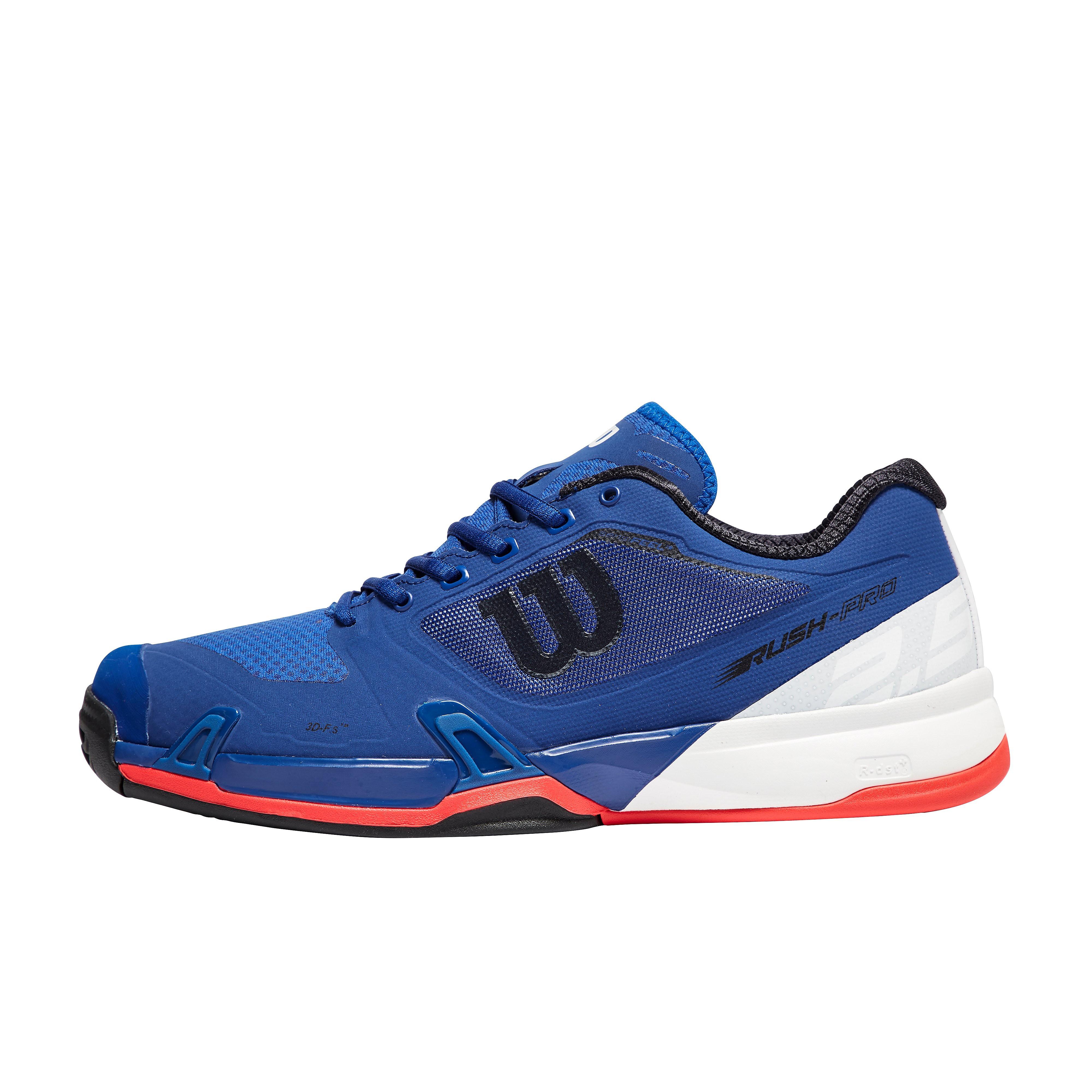 Men's Wilson Rush Pro 2.5 All Court Tennis Shoes - BLK/BLK, BLK/BLK