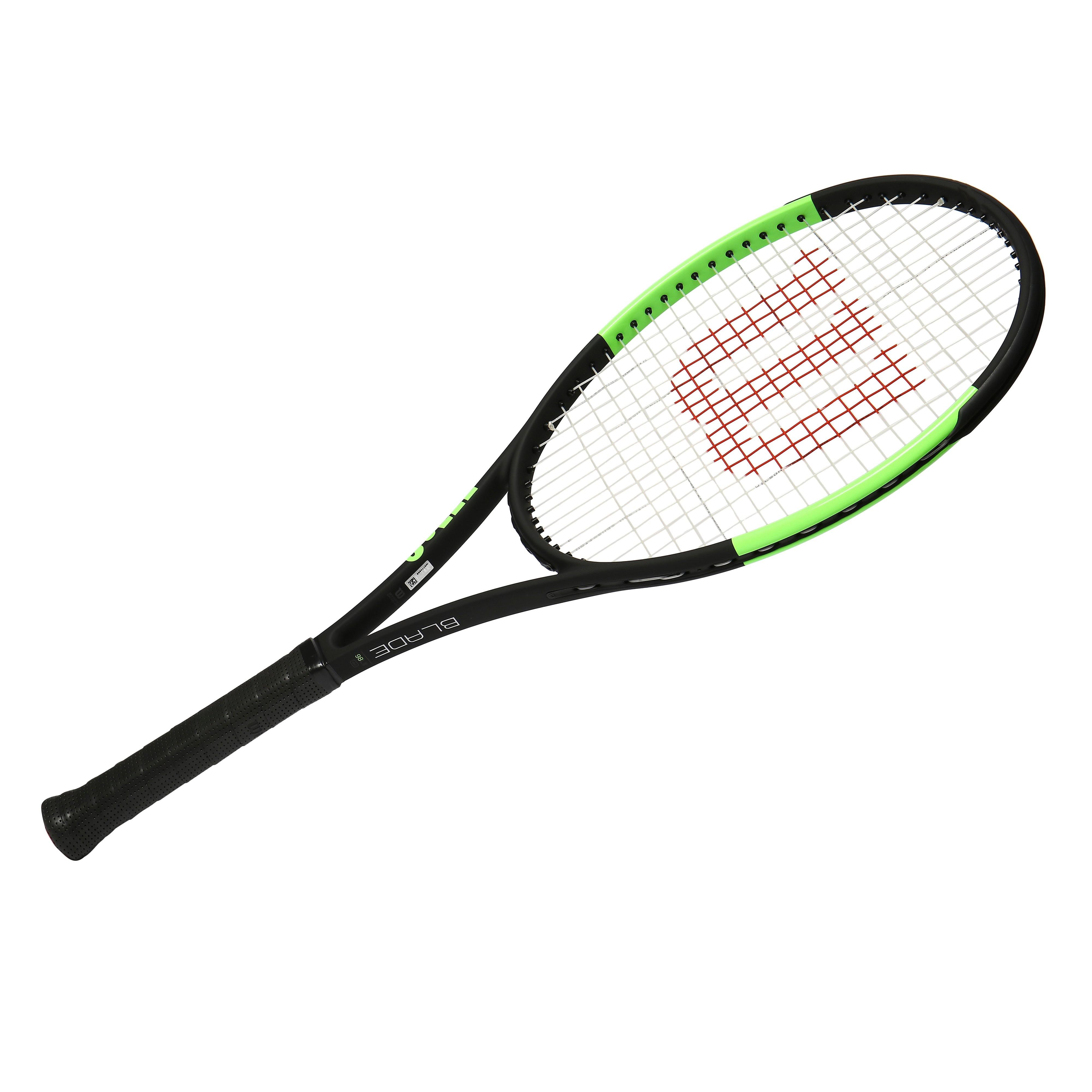 Womens Black Wilson Blade 98 Countervail Reverse Tour Unstrung Tennis Racket
