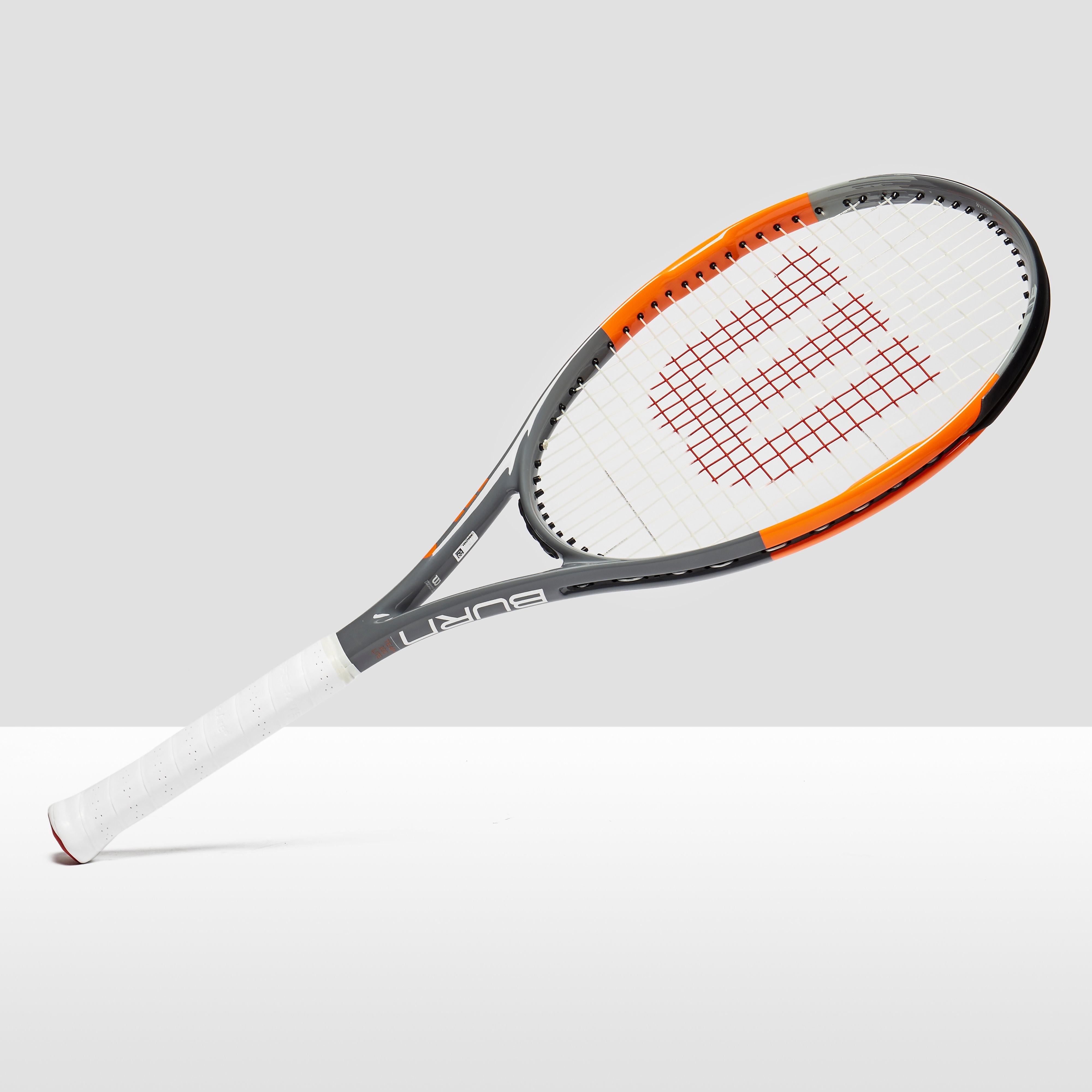 Mens Orange Wilson Burn Team 100 Lite Tennis Racket