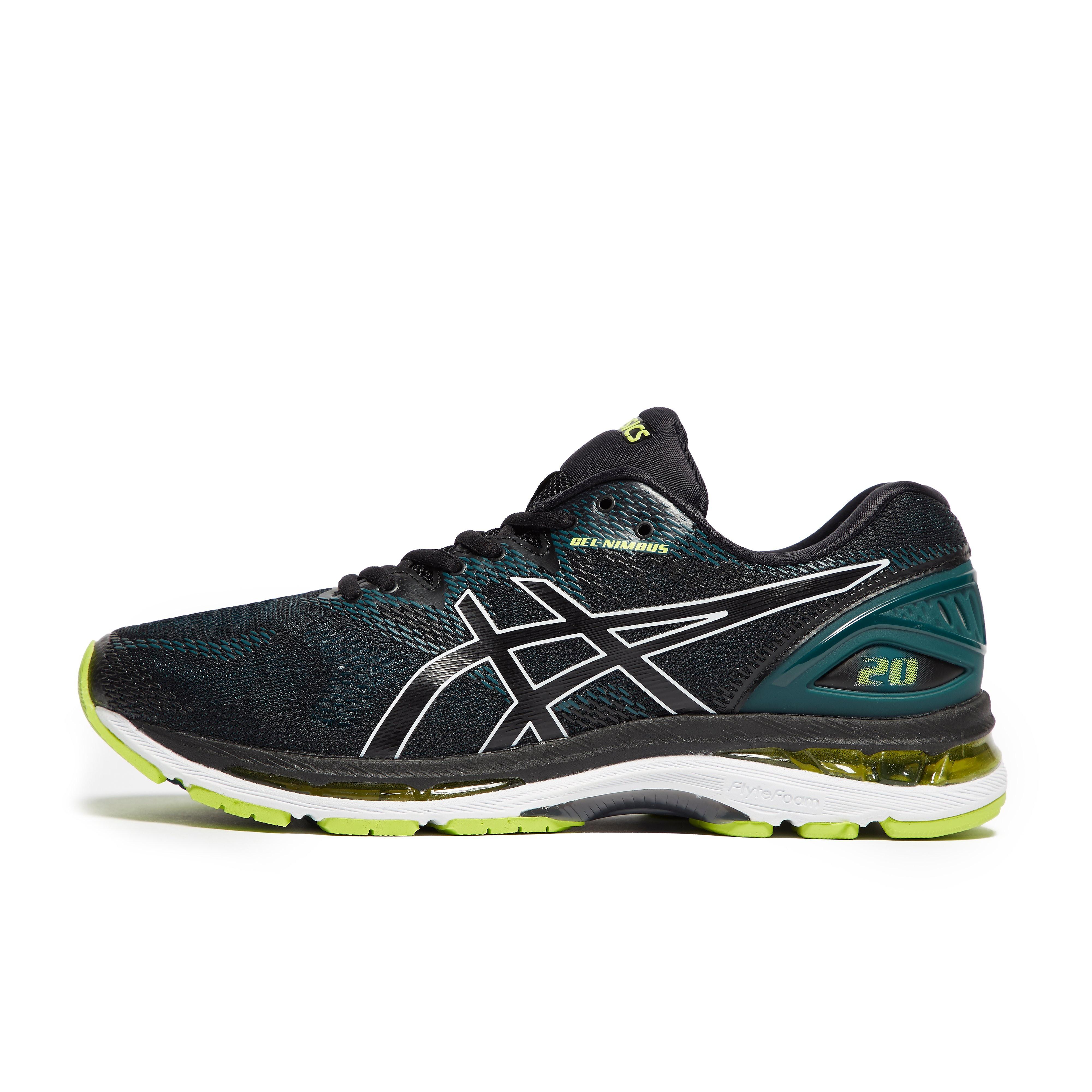 Mens Black ASICS Gel-Nimbus 20 Running Shoes