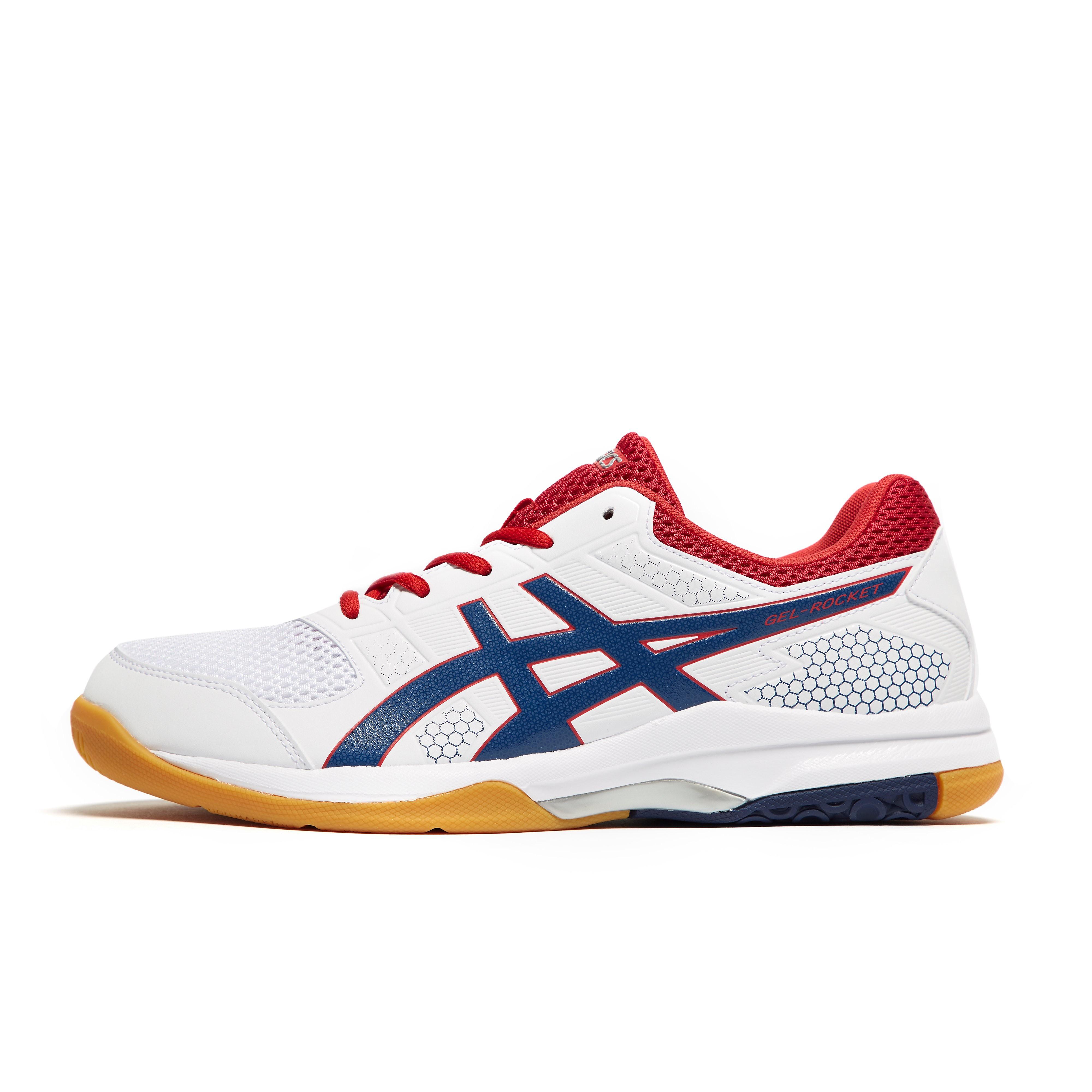 Mens White ASICS GEL-Rocket 8 Court Shoes, White