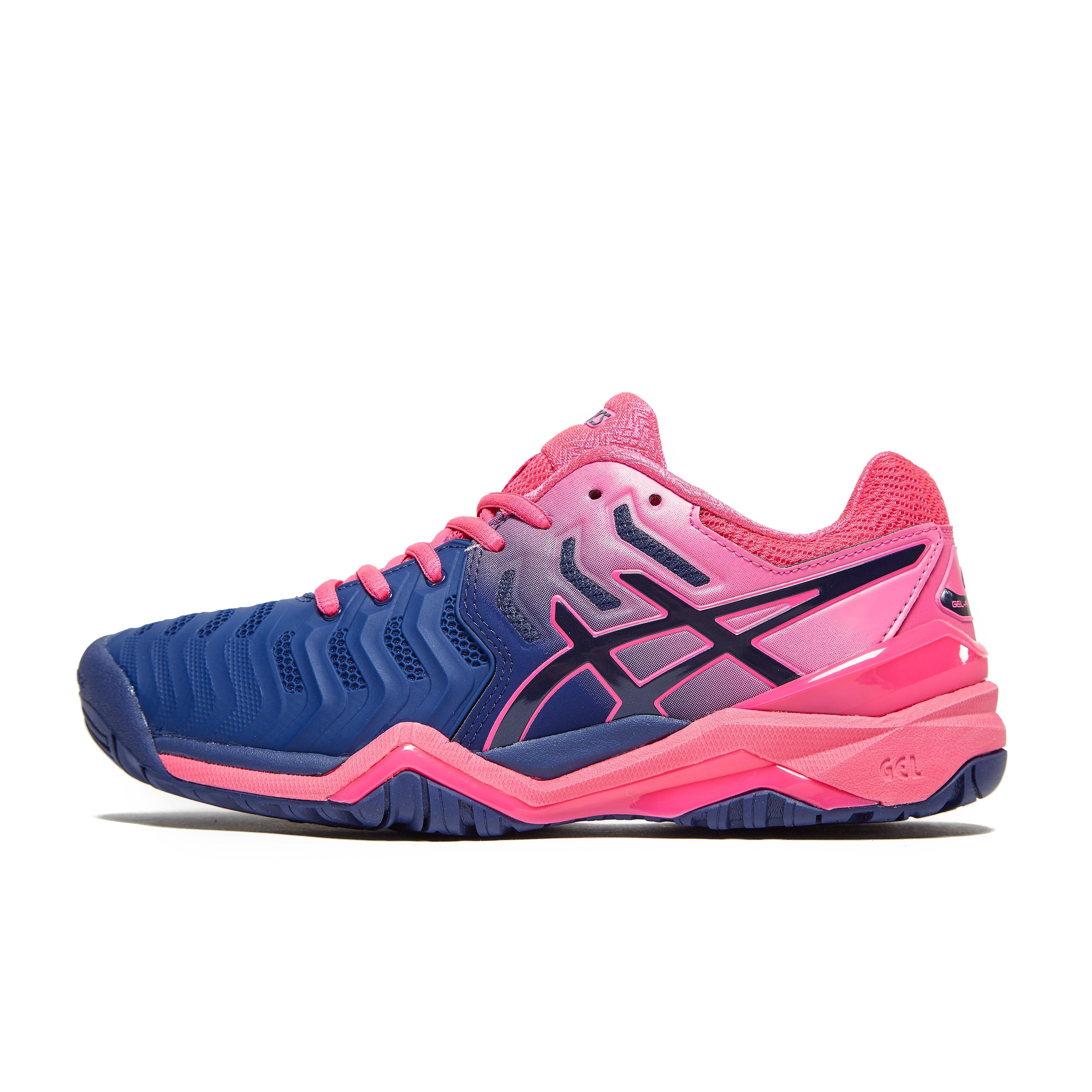 Womens Pink ASICS GEL-RESOLUTION 7 TENNIS SHOES
