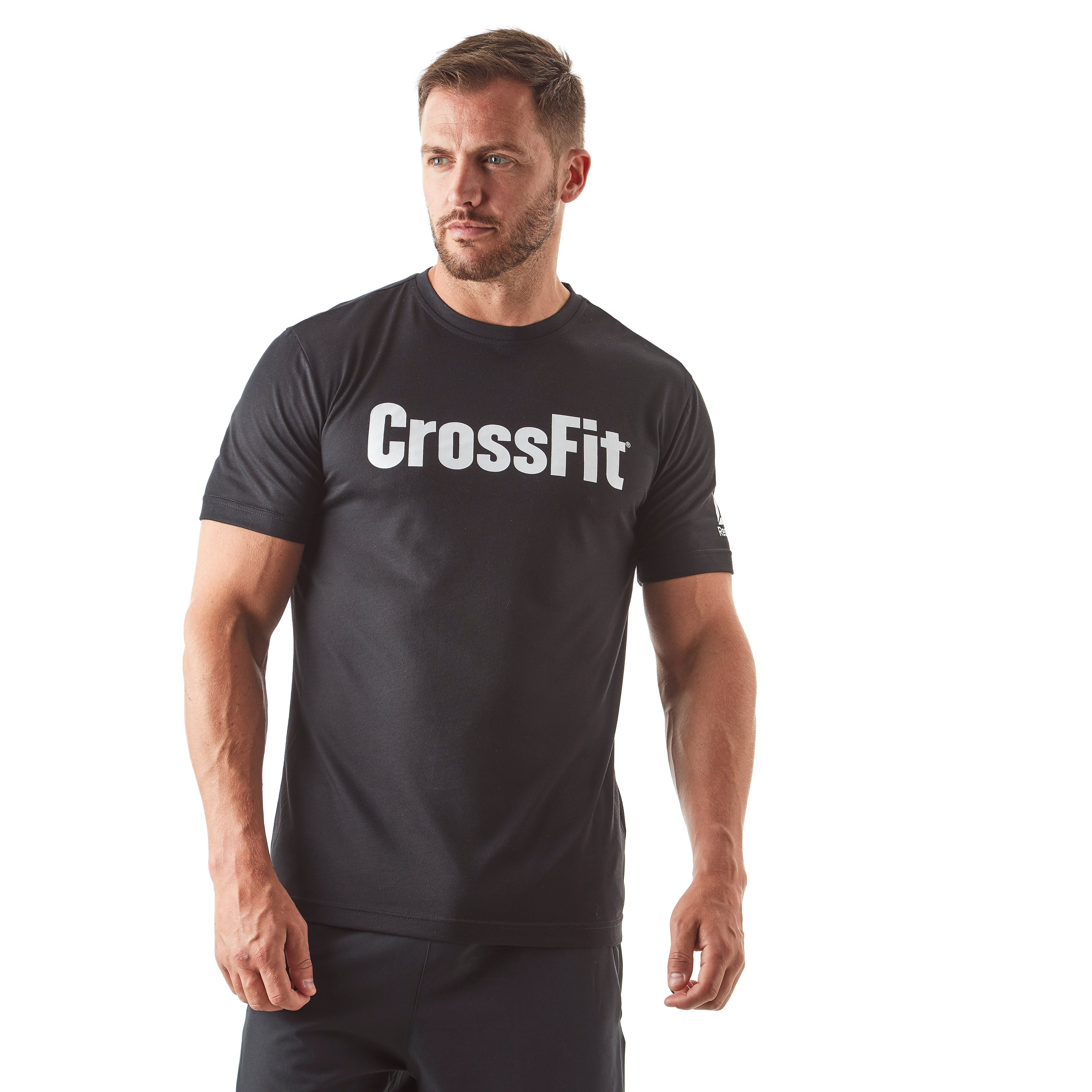 Mens Black Reebok Crossfit F.E.F Speedwick Training T-Shirt