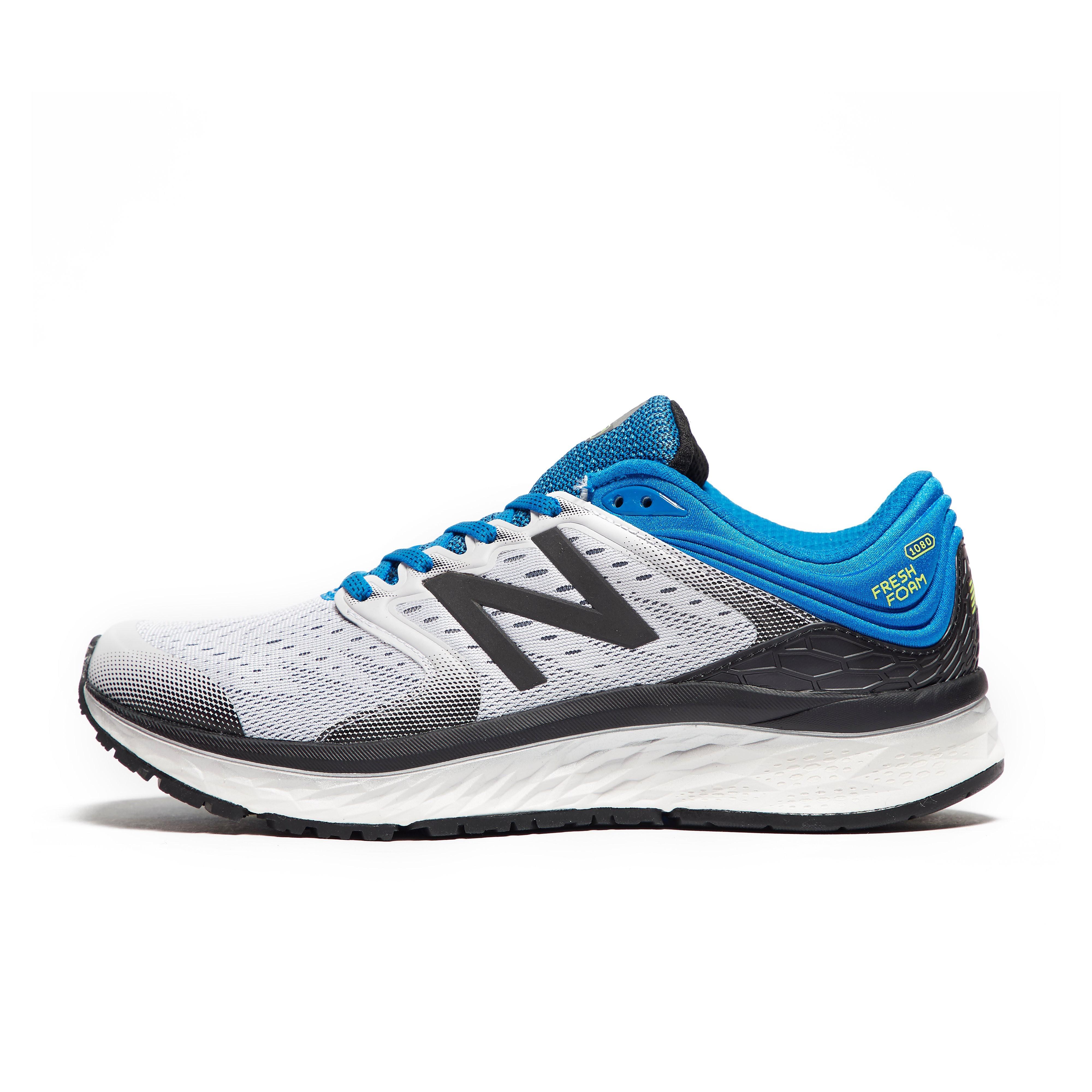 Mens White New Balance Fresh Foam 1080v8 Running Shoes