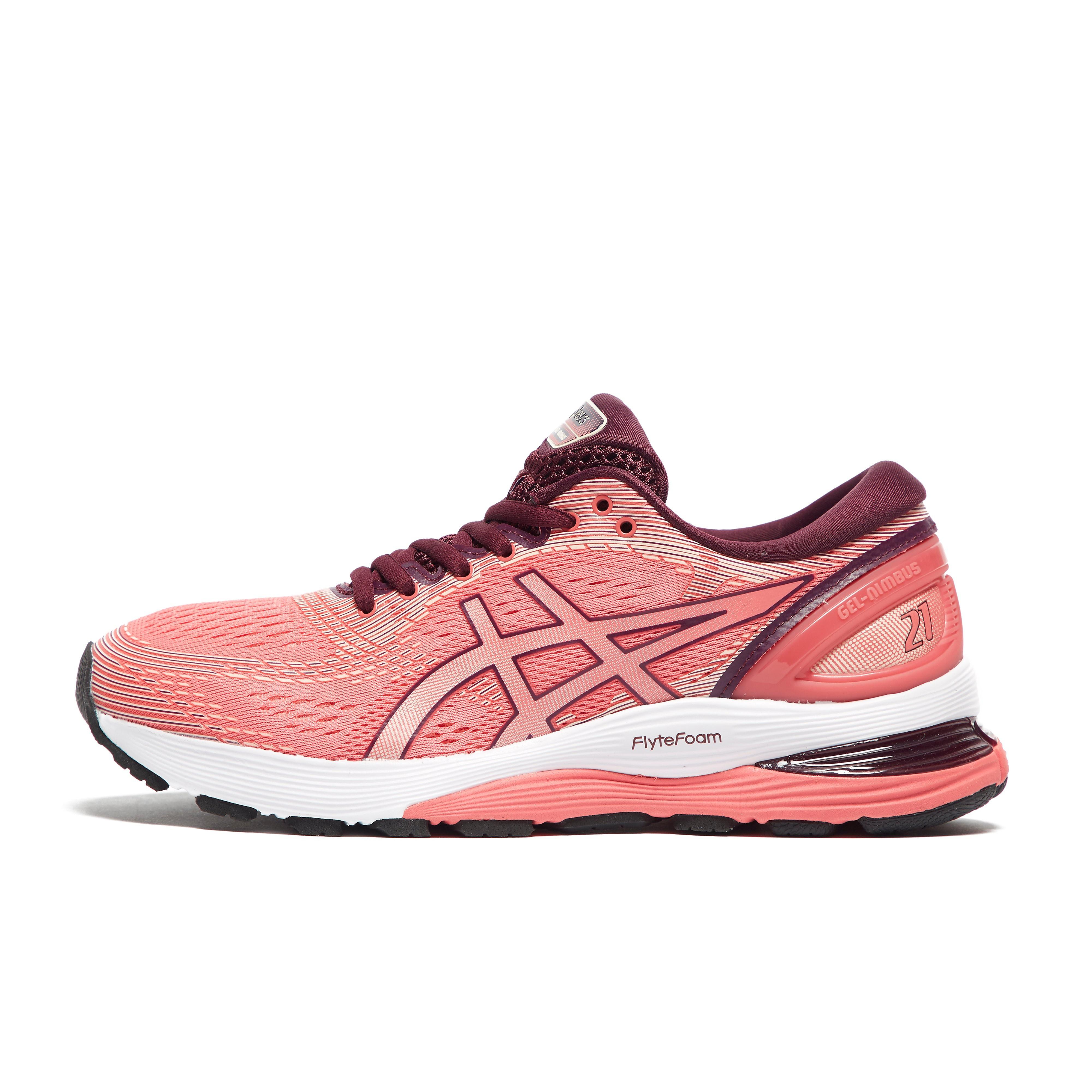 Womens Pink ASICS Gel-Nimbus 21 Running Shoes