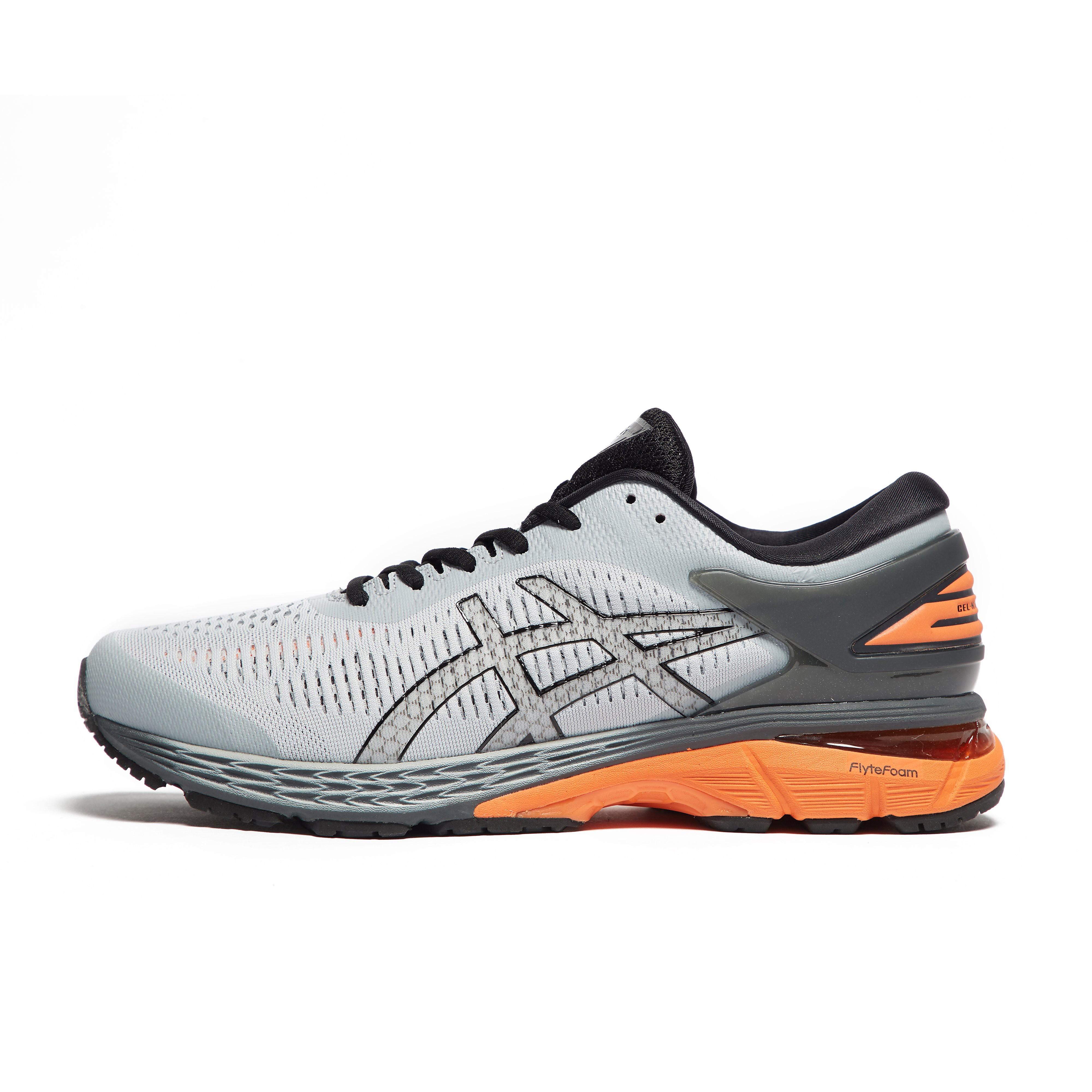 Mens Grey ASICS Gel-Kayano 25 Running Shoes