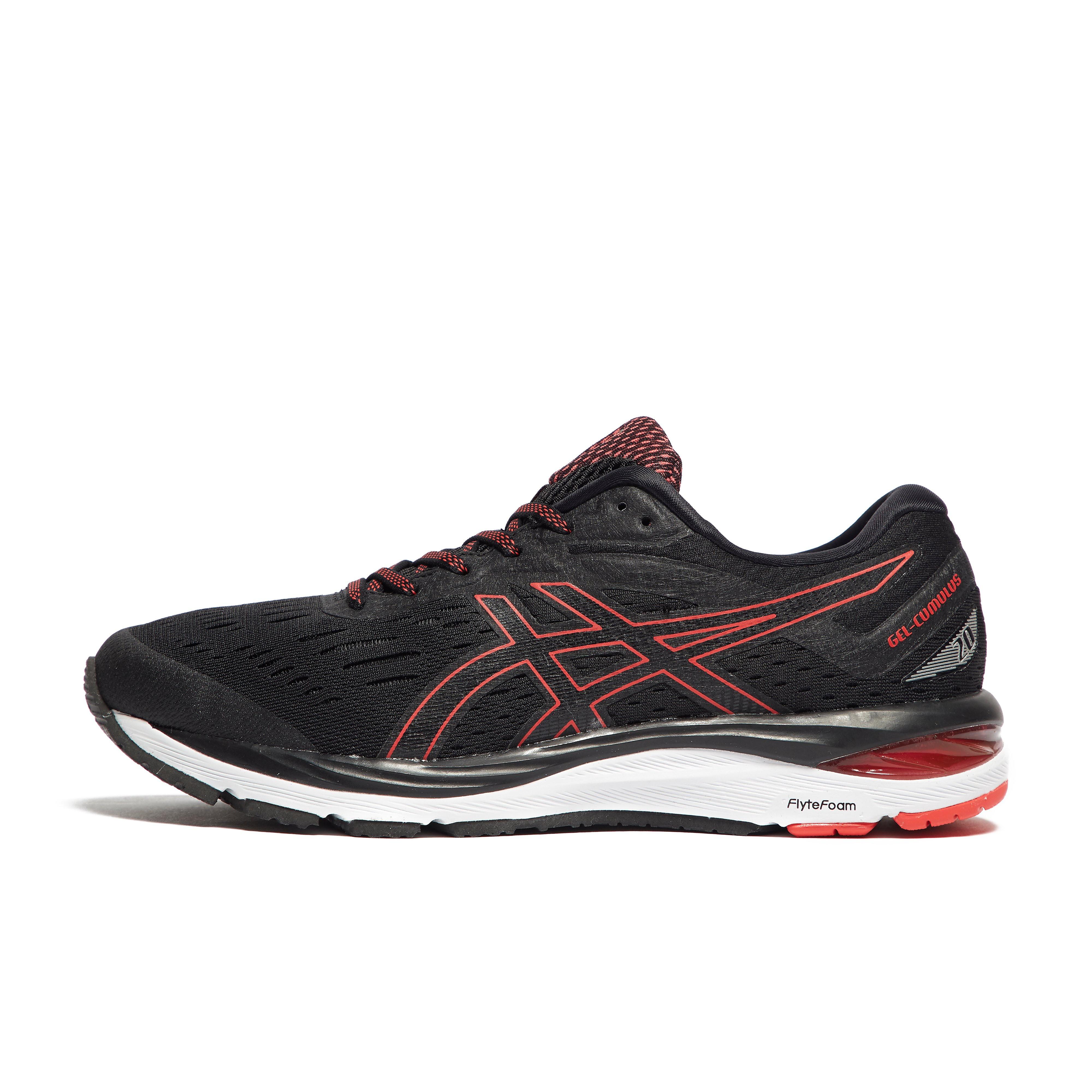Mens Black ASICS Gel-Cumulus 20 Running Shoes
