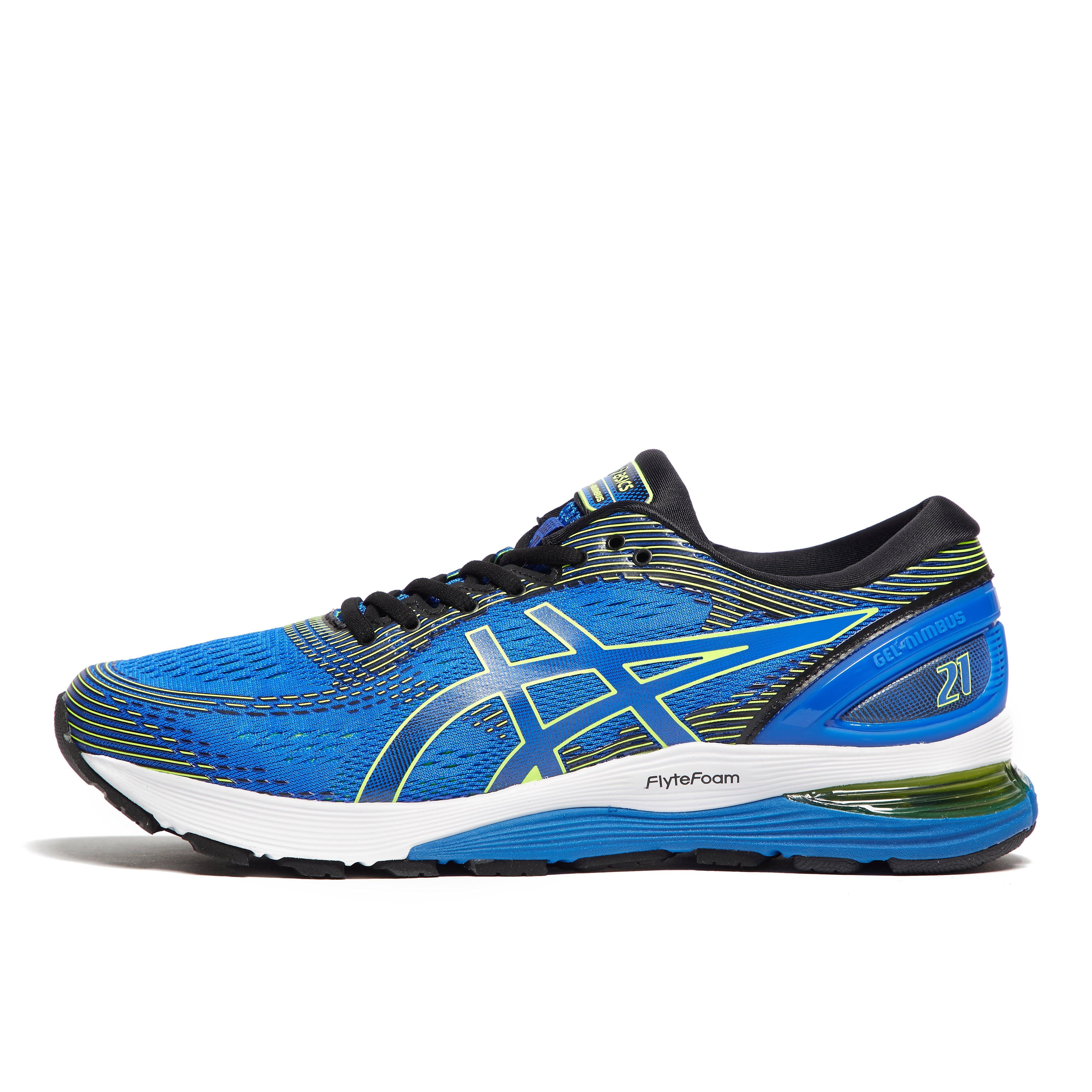 Mens Blue ASICS Gel-Nimbus 21 Running Shoes