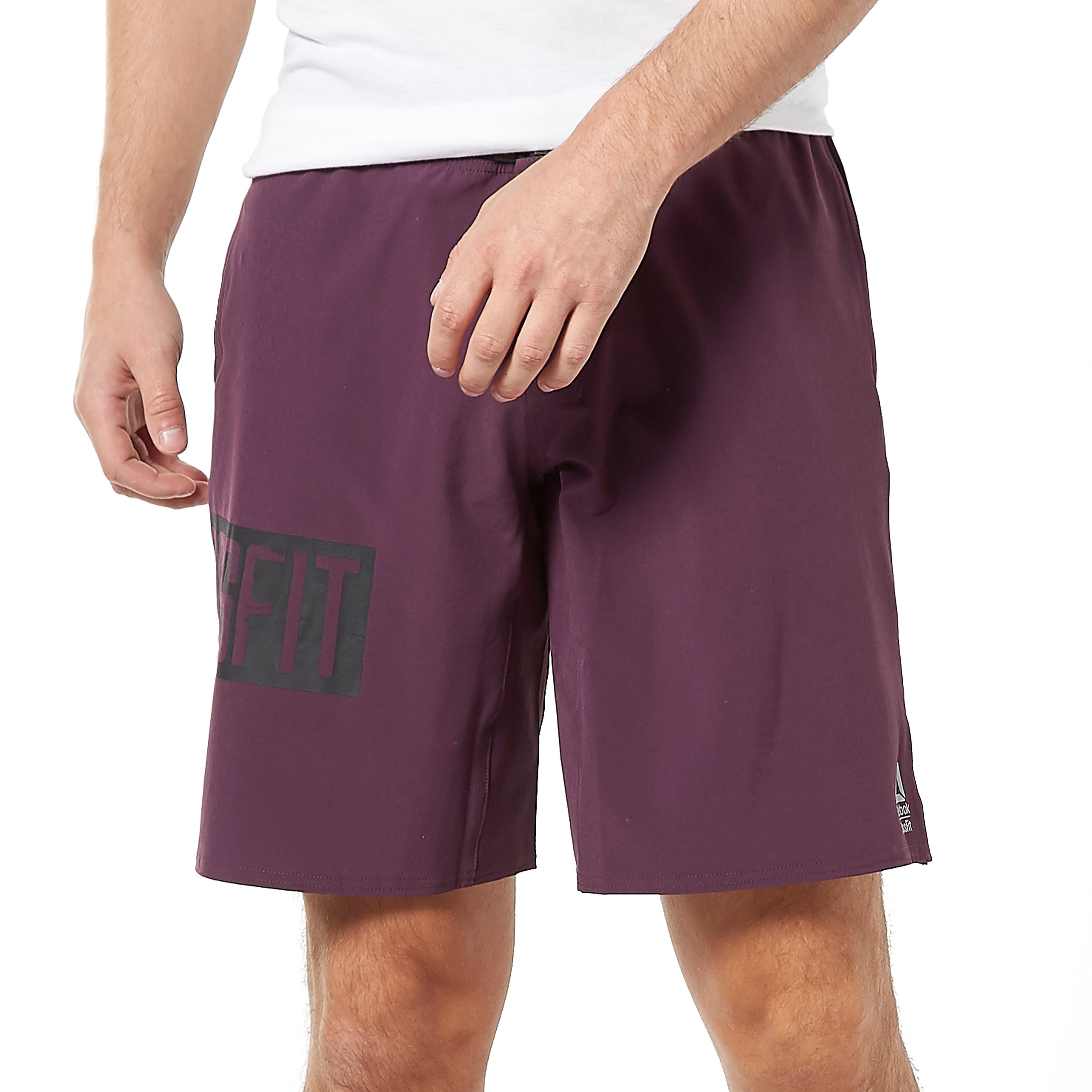 Mens Purple Reebok Epic Base Training Shorts