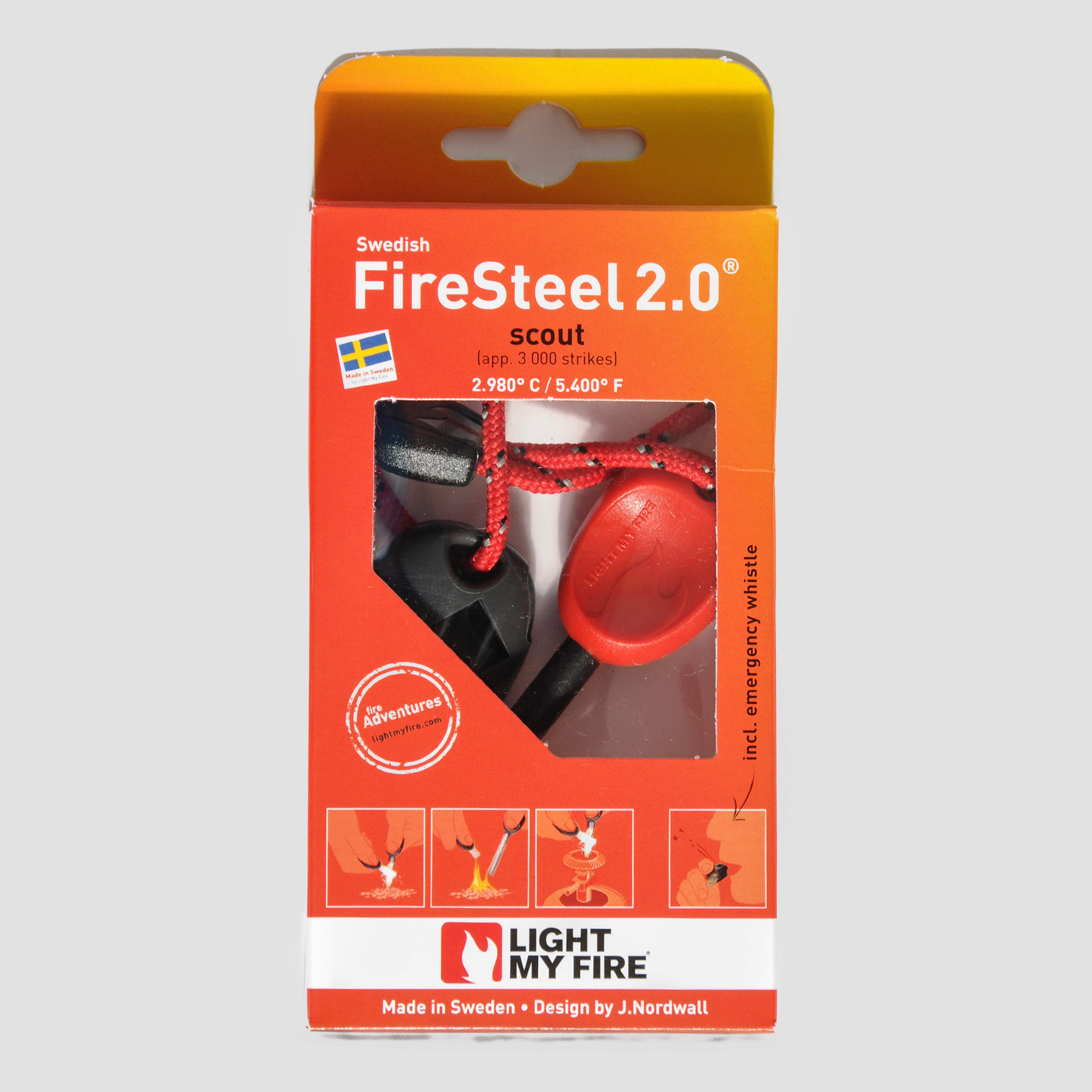 Light My Fire Swedish FireSteel 2.0 Scout Fire Starter