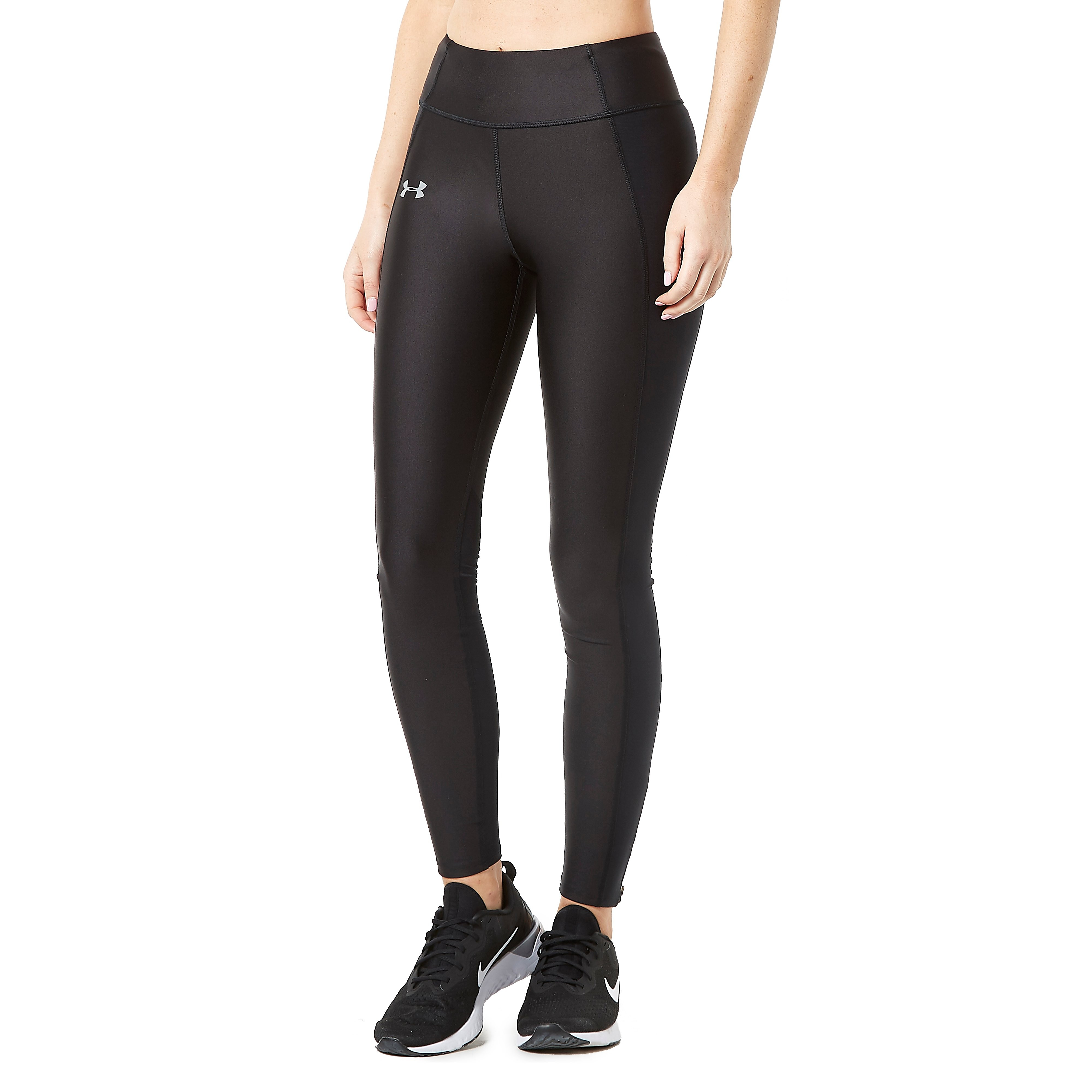 Womens BLK Under Armour Speed Stride Training Tights