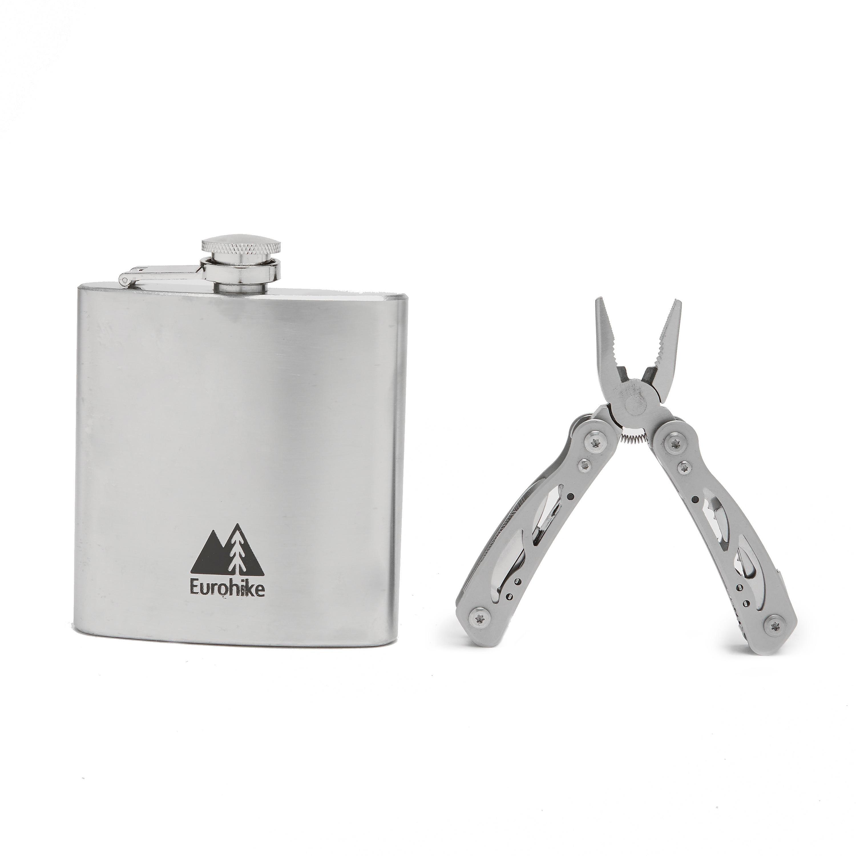 EUROHIKE Hip Flask & Multi Tool Set