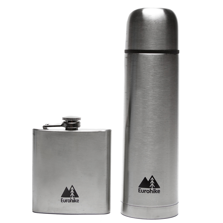 Eurohike 0.5L Flask And Hip Flask
