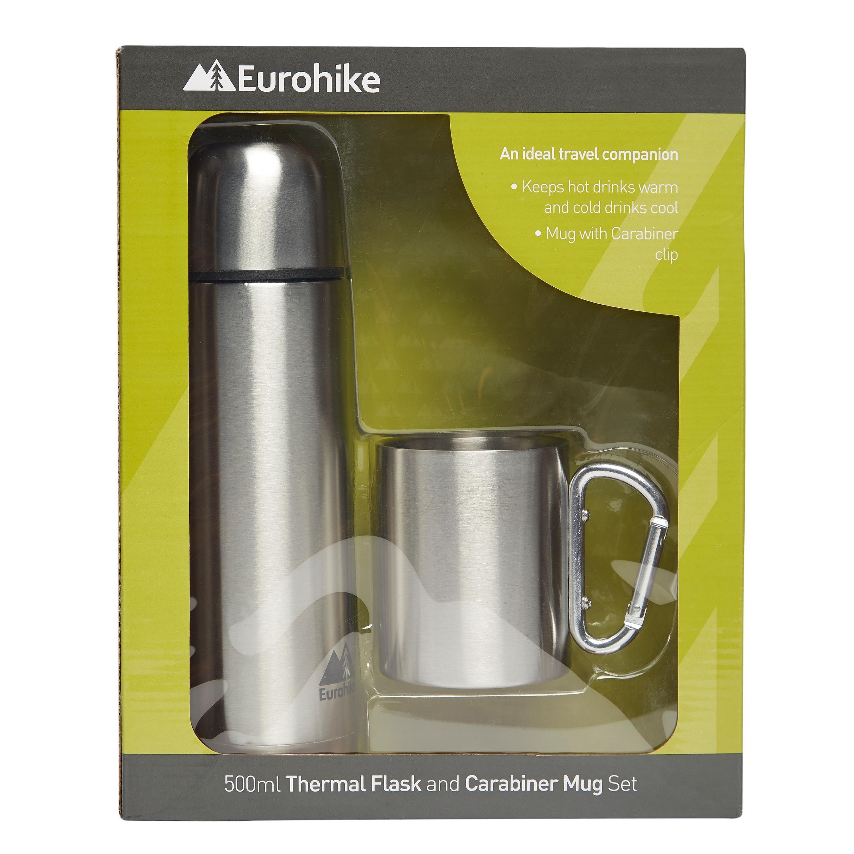 EUROHIKE 0.5L Flask And Karabiner Mug