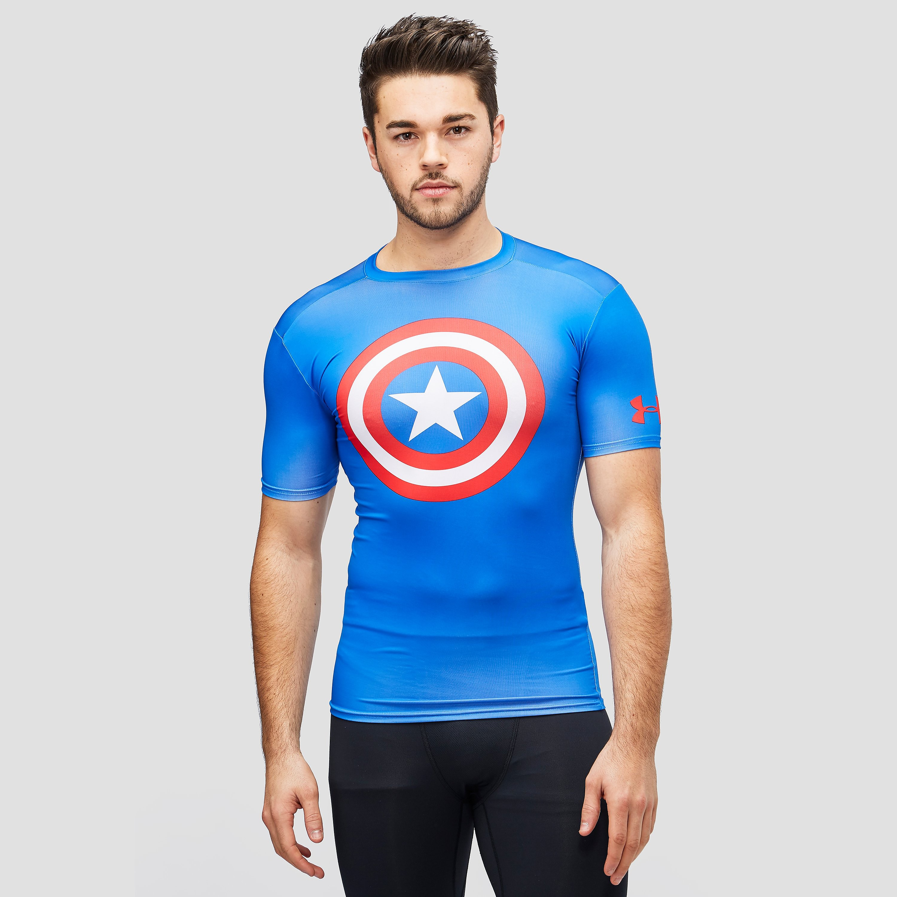 Under Armour Alter Ego Captain America Compression Short Sleeve Men's T-Shirt.