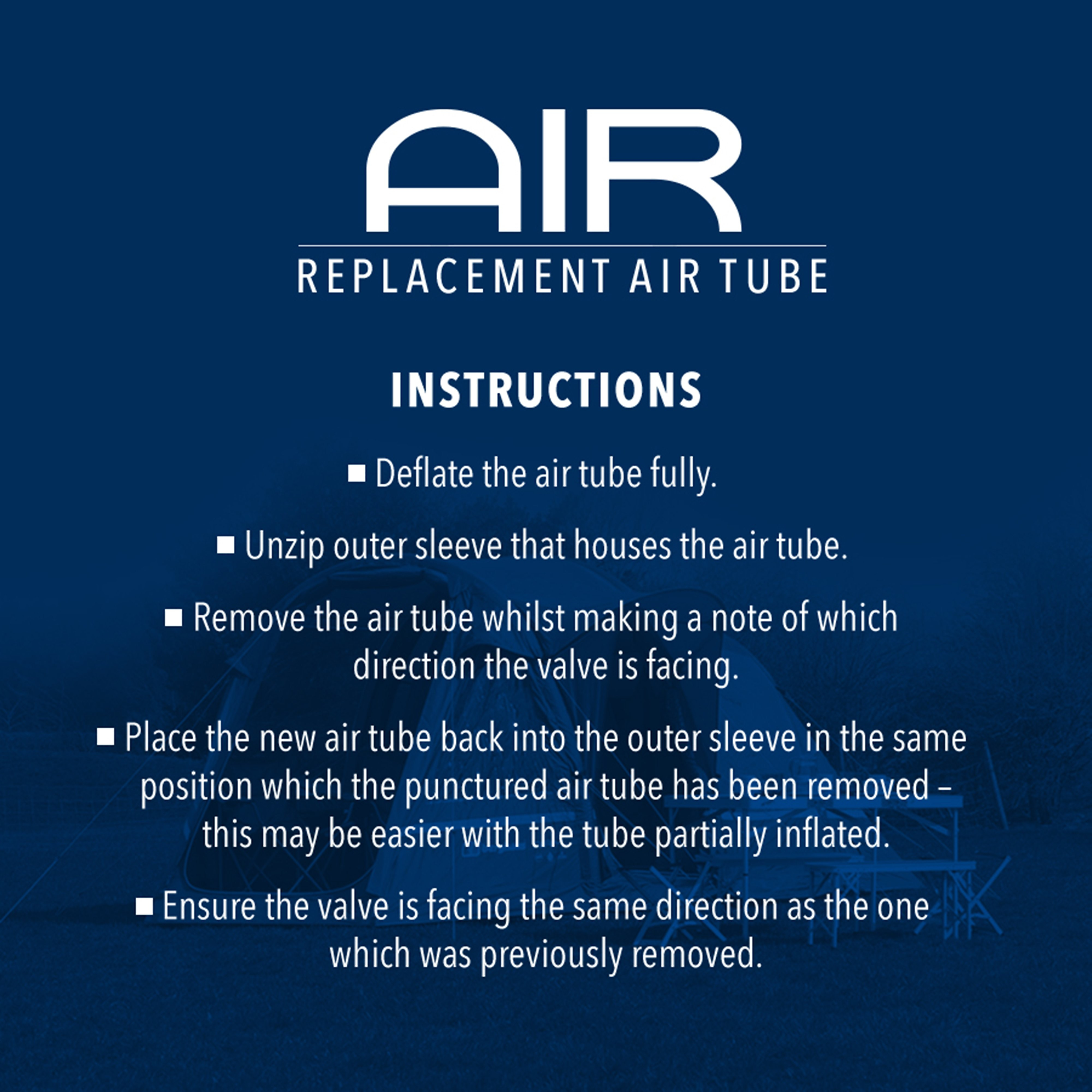 Eurohike Replacement Air Tube - 516L