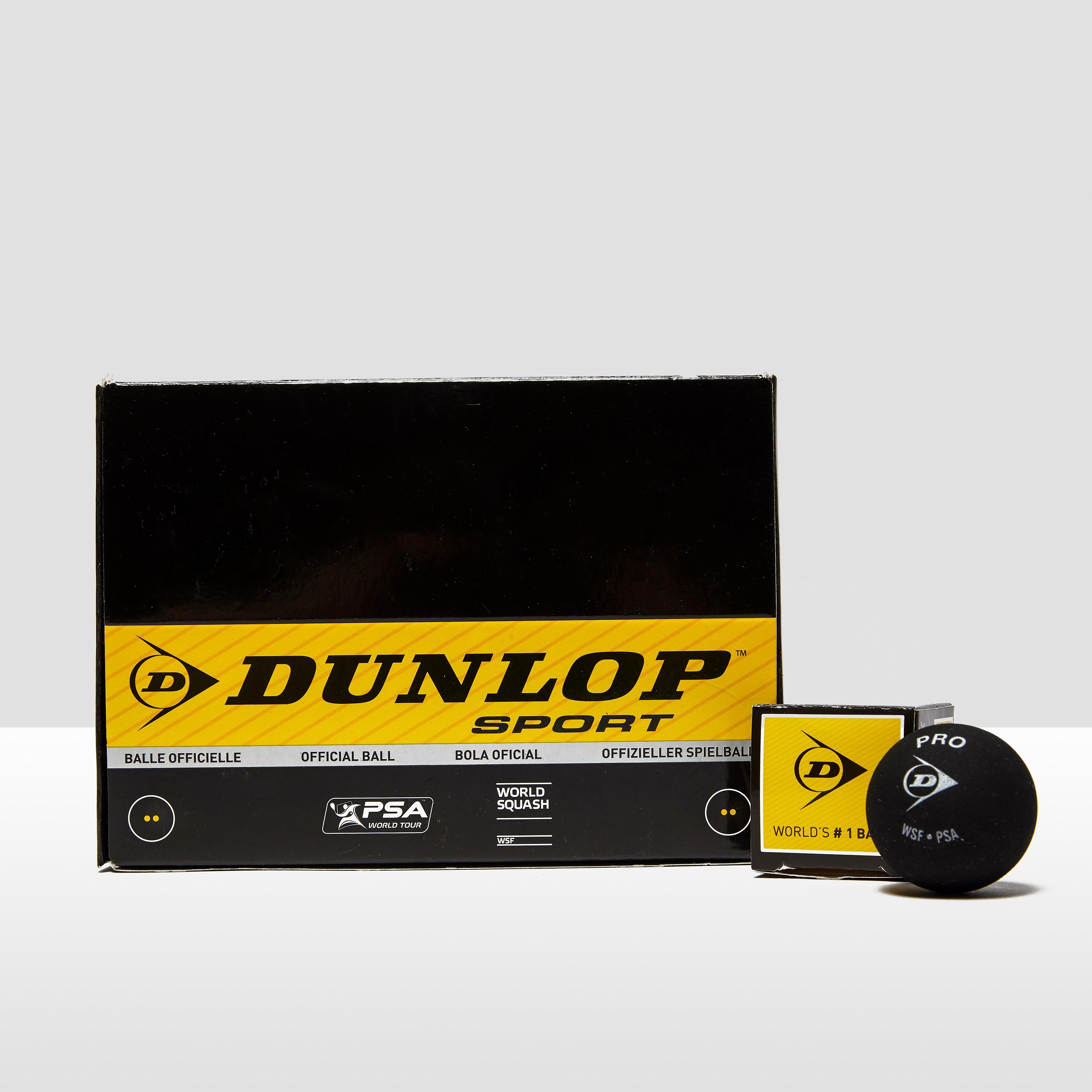 Dunlop Pro Squash Balls (Double Spot) - Box of 12