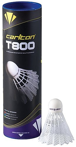 Carlton T800-White Badminton Shuttlecocks T