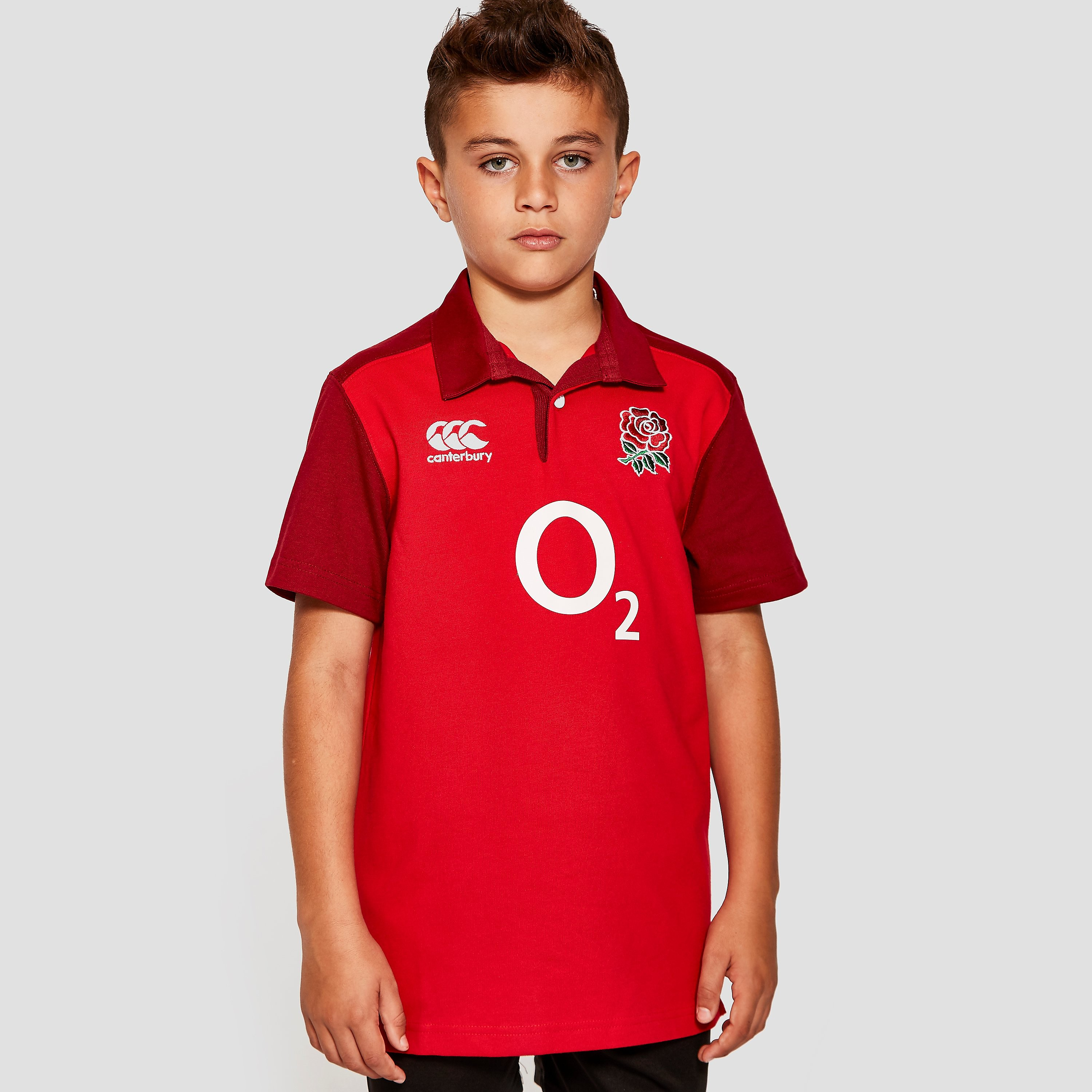 Canterbury ENGLAND 2015/16 Away Classic LS Junior Rugby Jersey