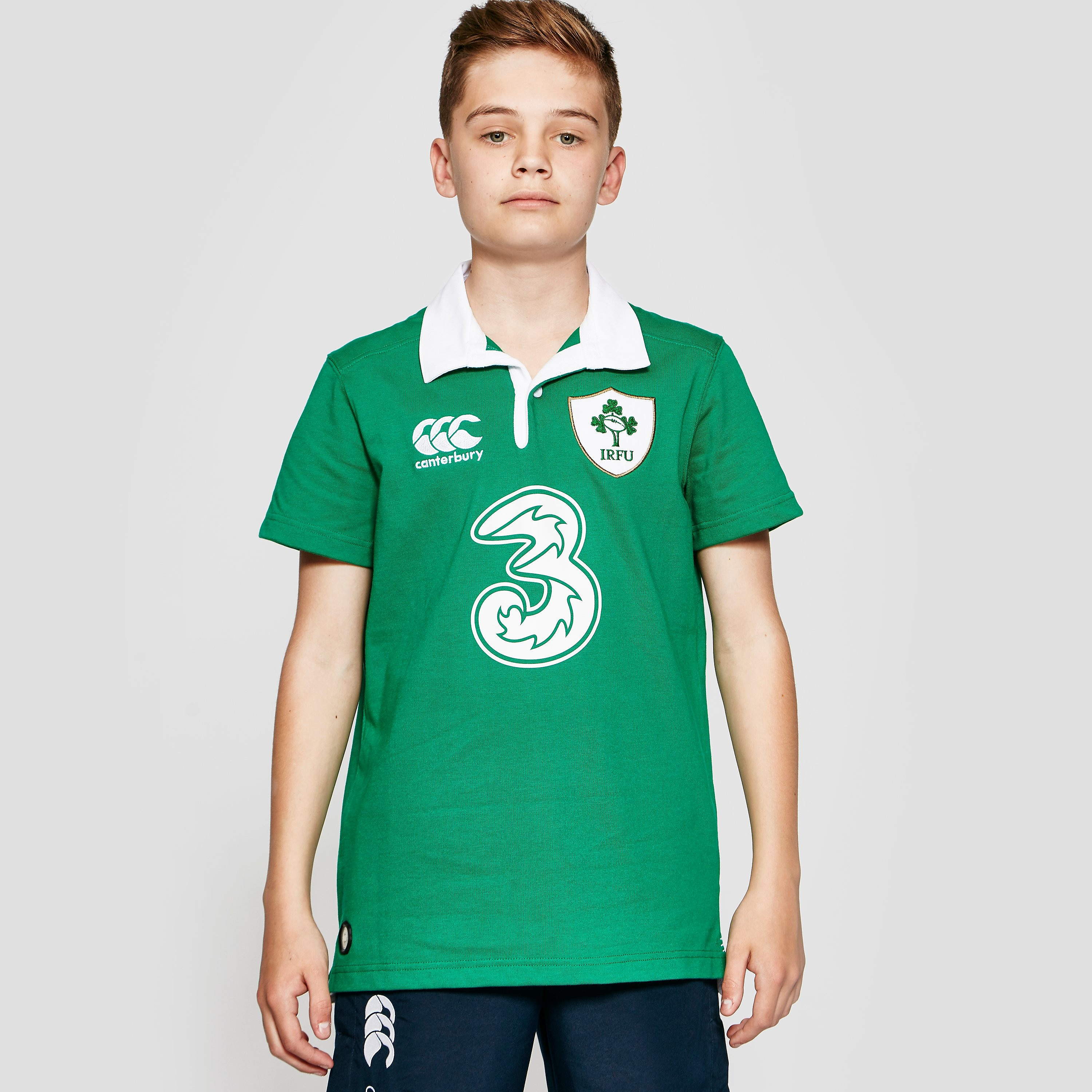 Canterbury IRELAND 2015/16 Home Classic SS Junior Rugby Jersey