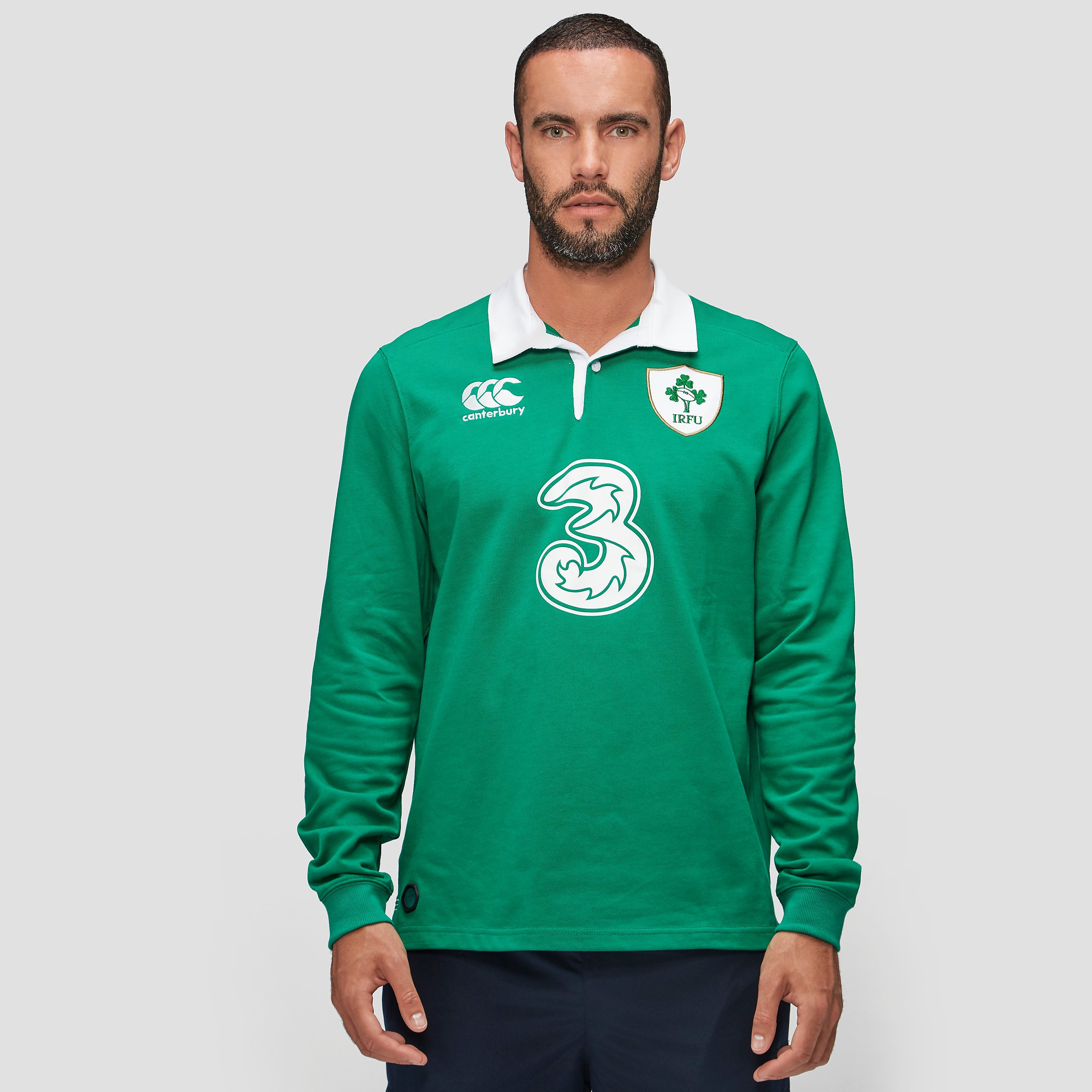 Canterbury IRELAND 2015/16 Home Classic LS Adult Rugby Jersey