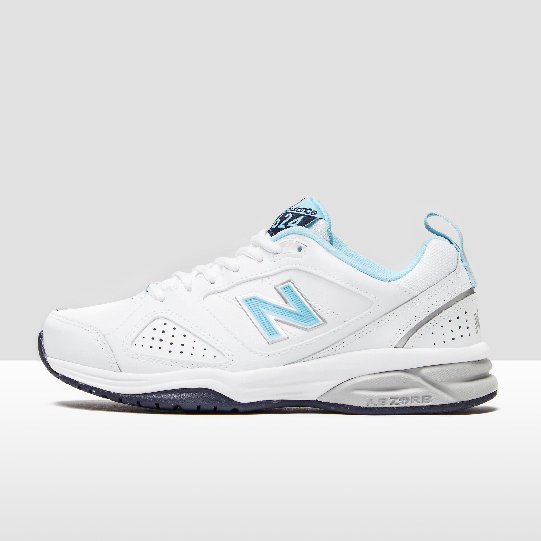 Womens White New Balance 624V4 Training Shoes