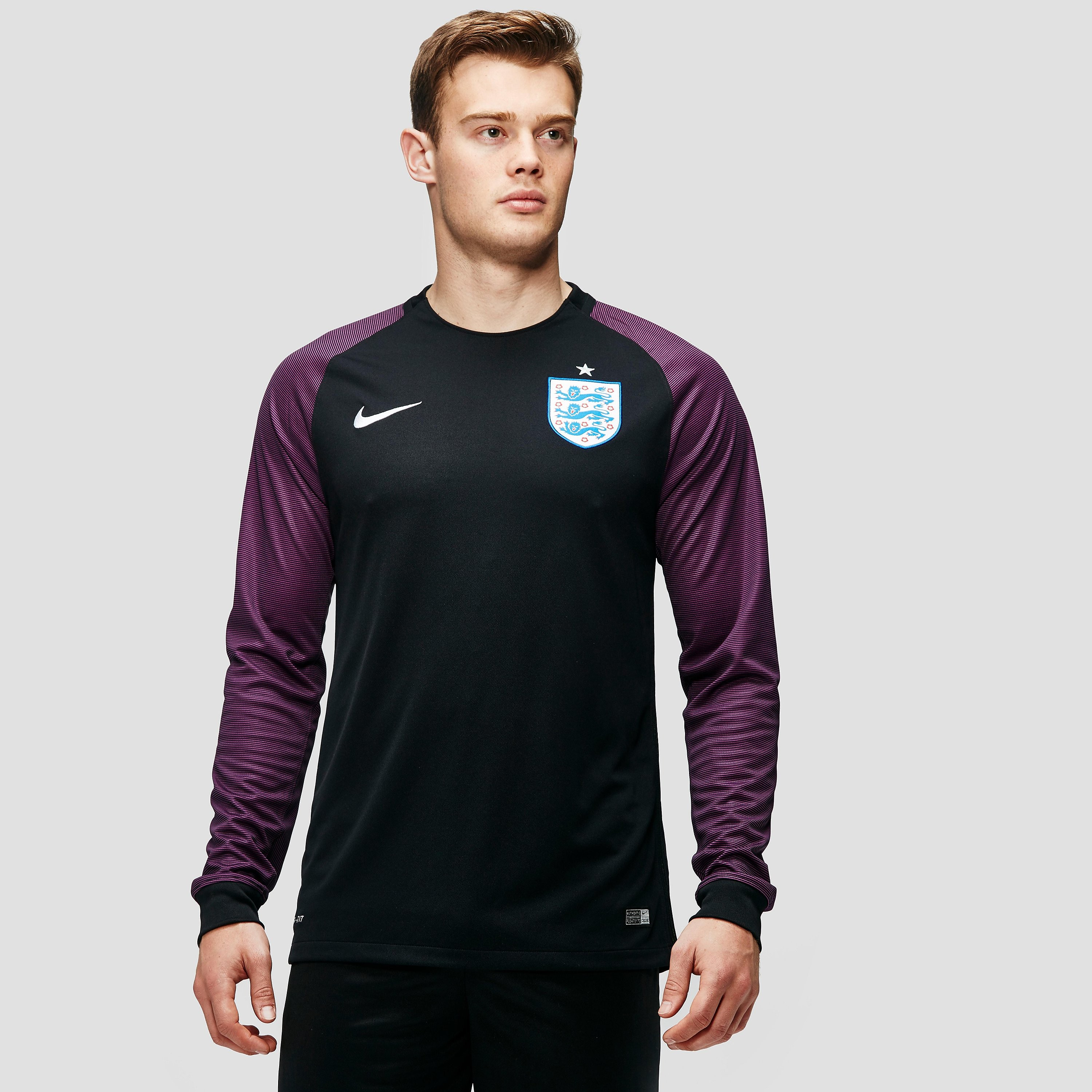 Nike England 2016 Goalkeeper Stadium Men`s Football Long-Sleeve Jersey