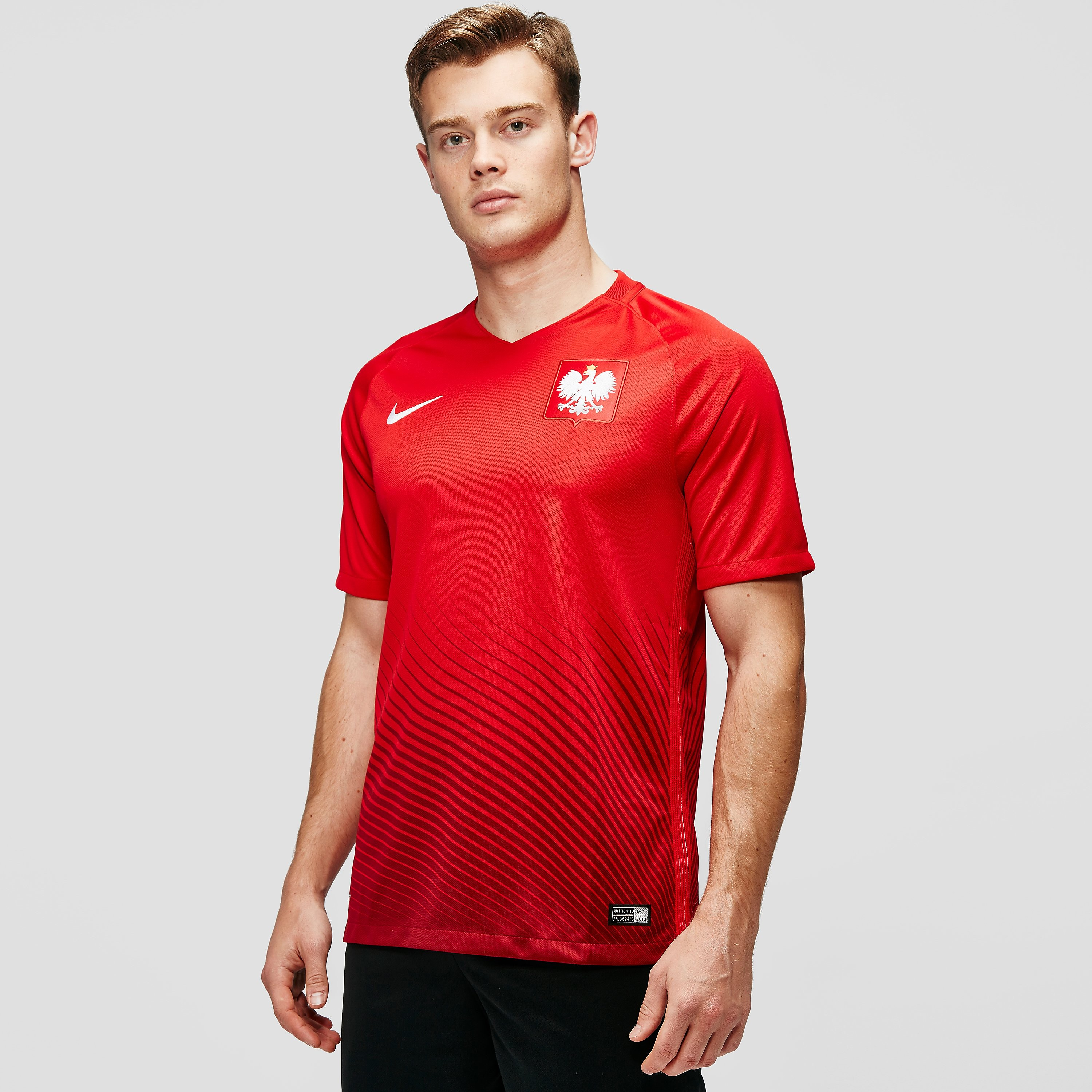 Nike Poland 2016 Away Stadium men`s Football Short-Sleeve Jersey
