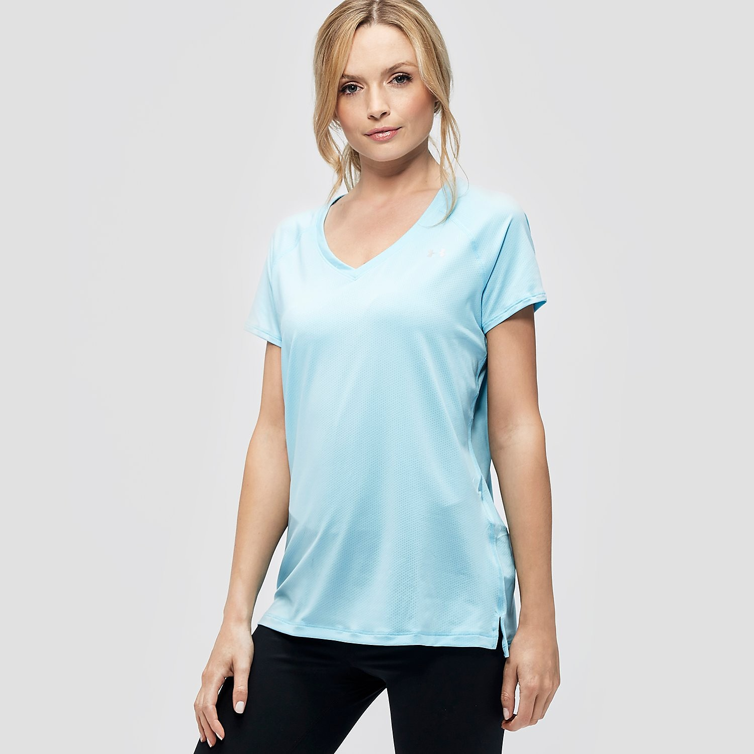 UNDER ARMOUR Ladies UA HeatGear Armour Short Sleeve T-Shirt