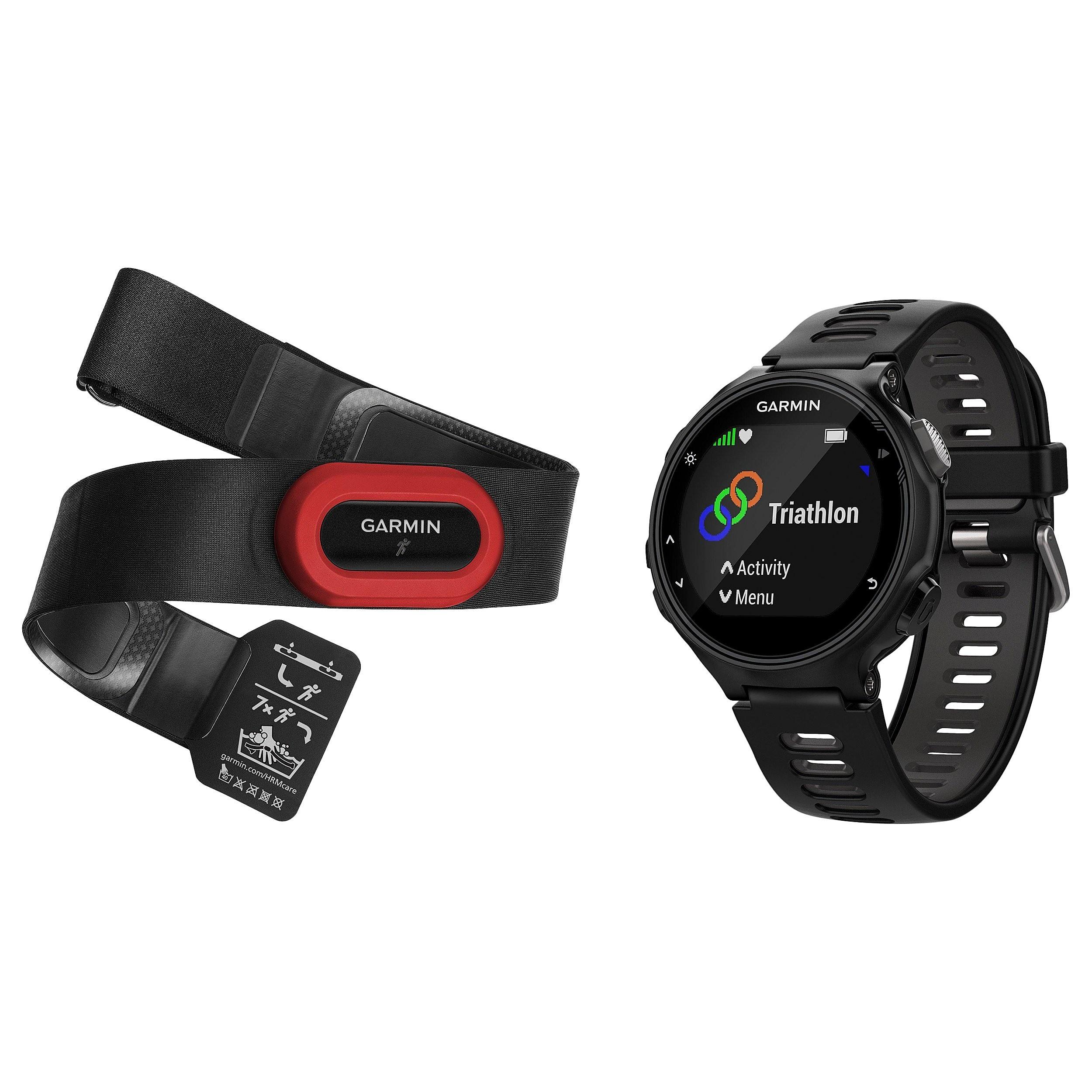 Garmin Forerunner 735XT GPS Running Multi-Sport Watch Run Bundle