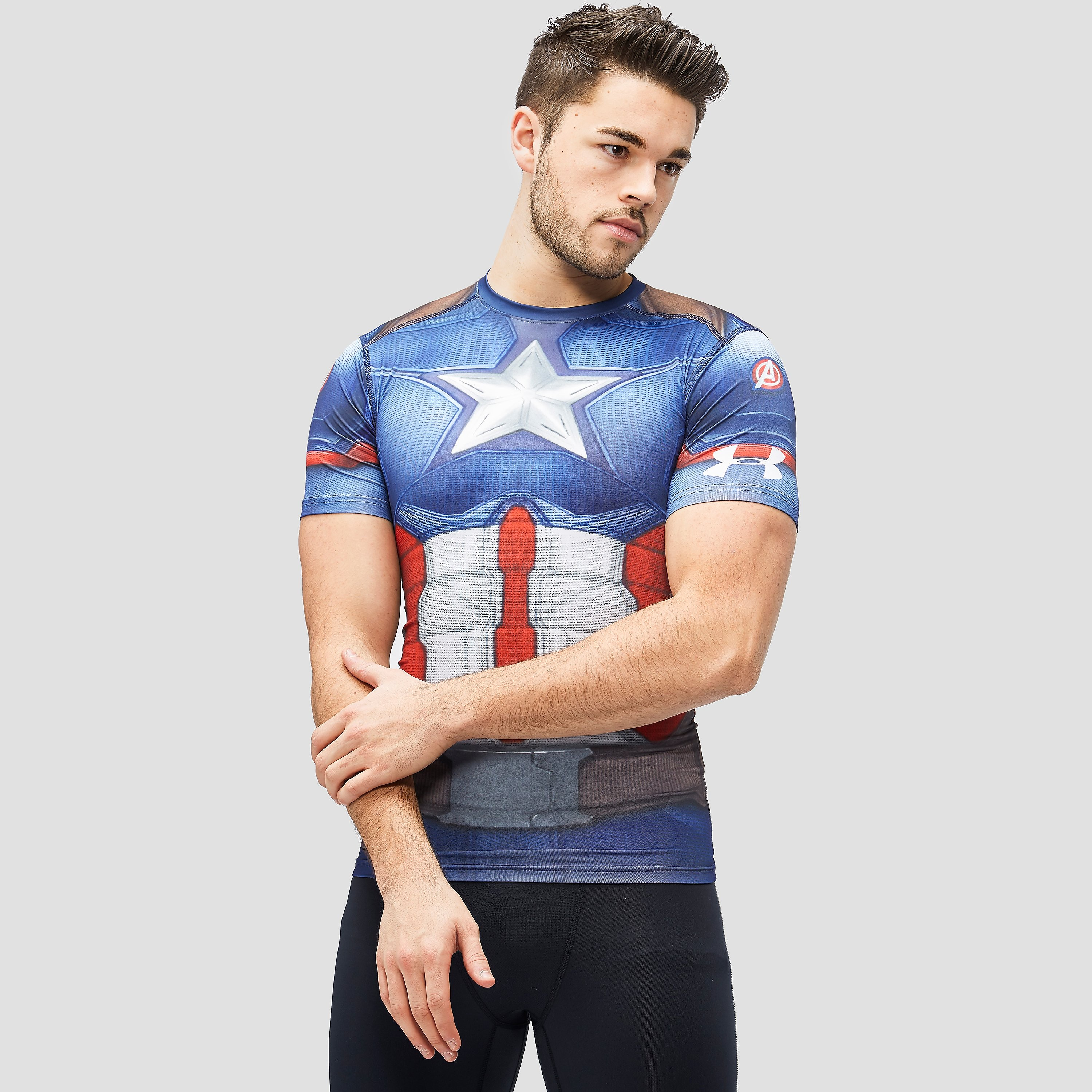 Under Armour Alter Ego Captain America Compression Short Sleeve Men's T-Shirt