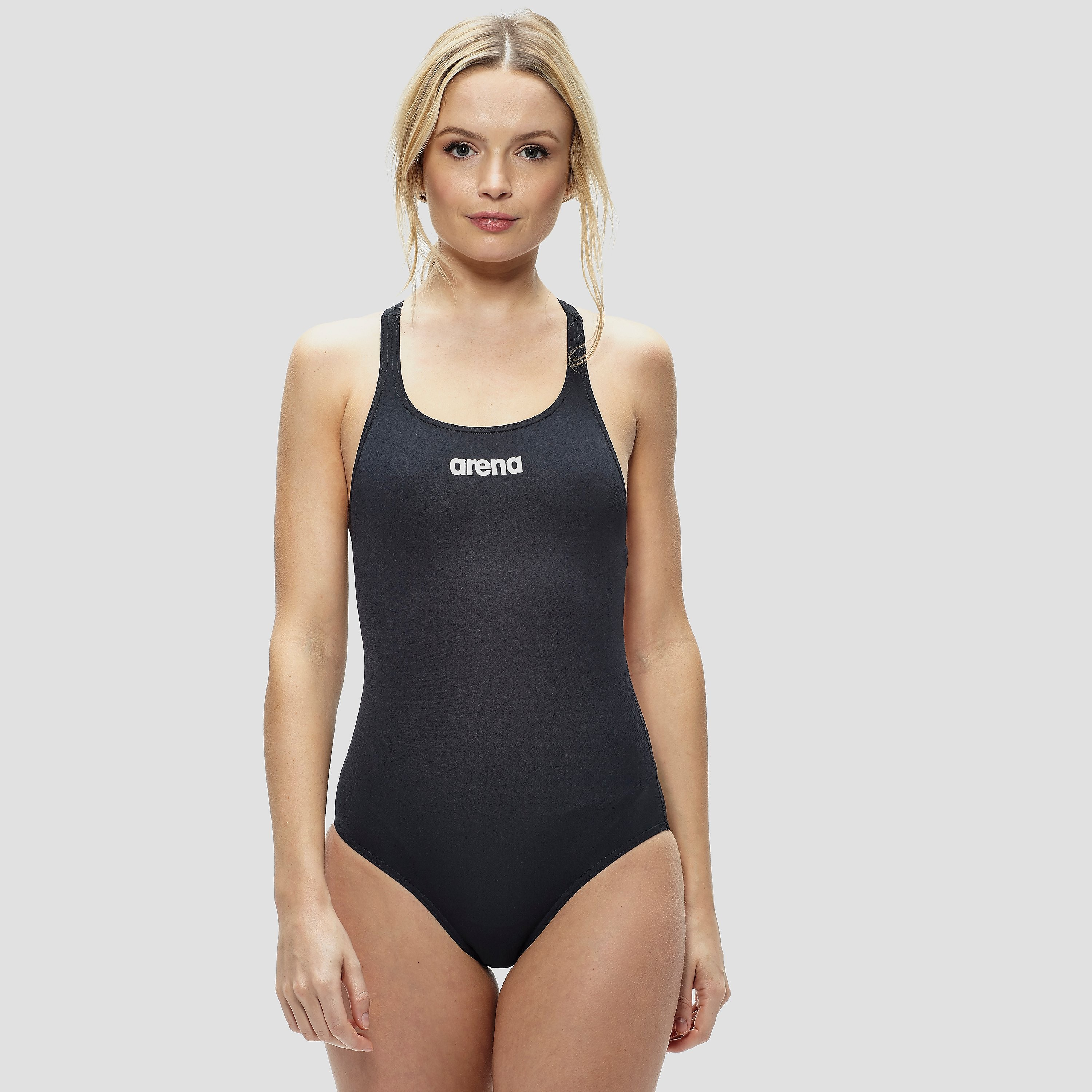 Arena Women's Solid Swim Tech High Swimsuit
