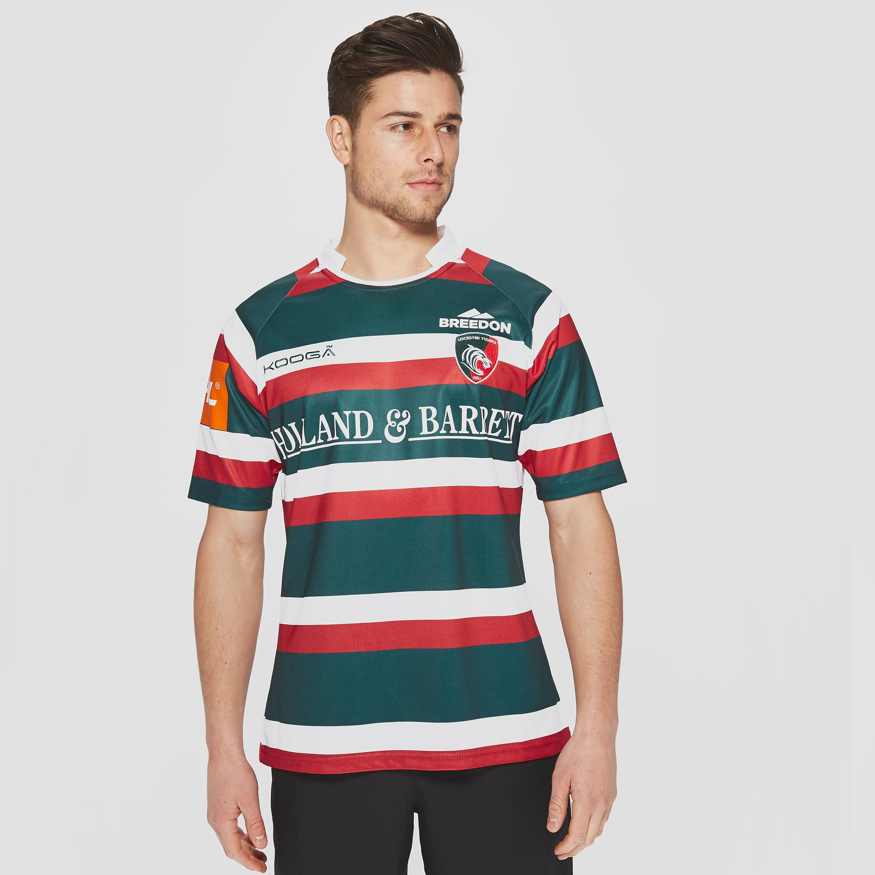 KooGa Leicester Tigers 2016/17 Replica Home Rugby Shirt