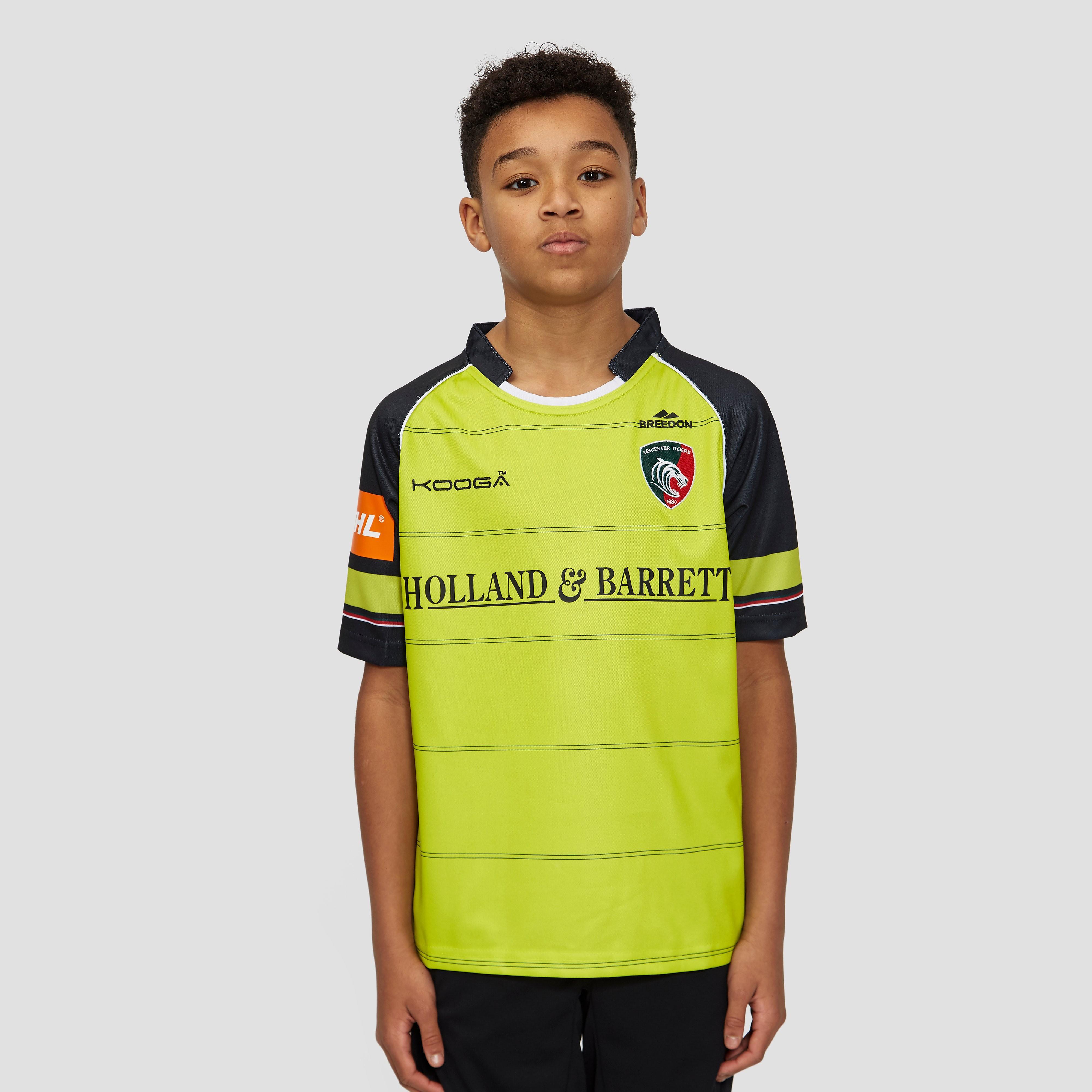 KooGa Leicester Tigers 2016/17 Junior Alternate Replica Rugby Shirt
